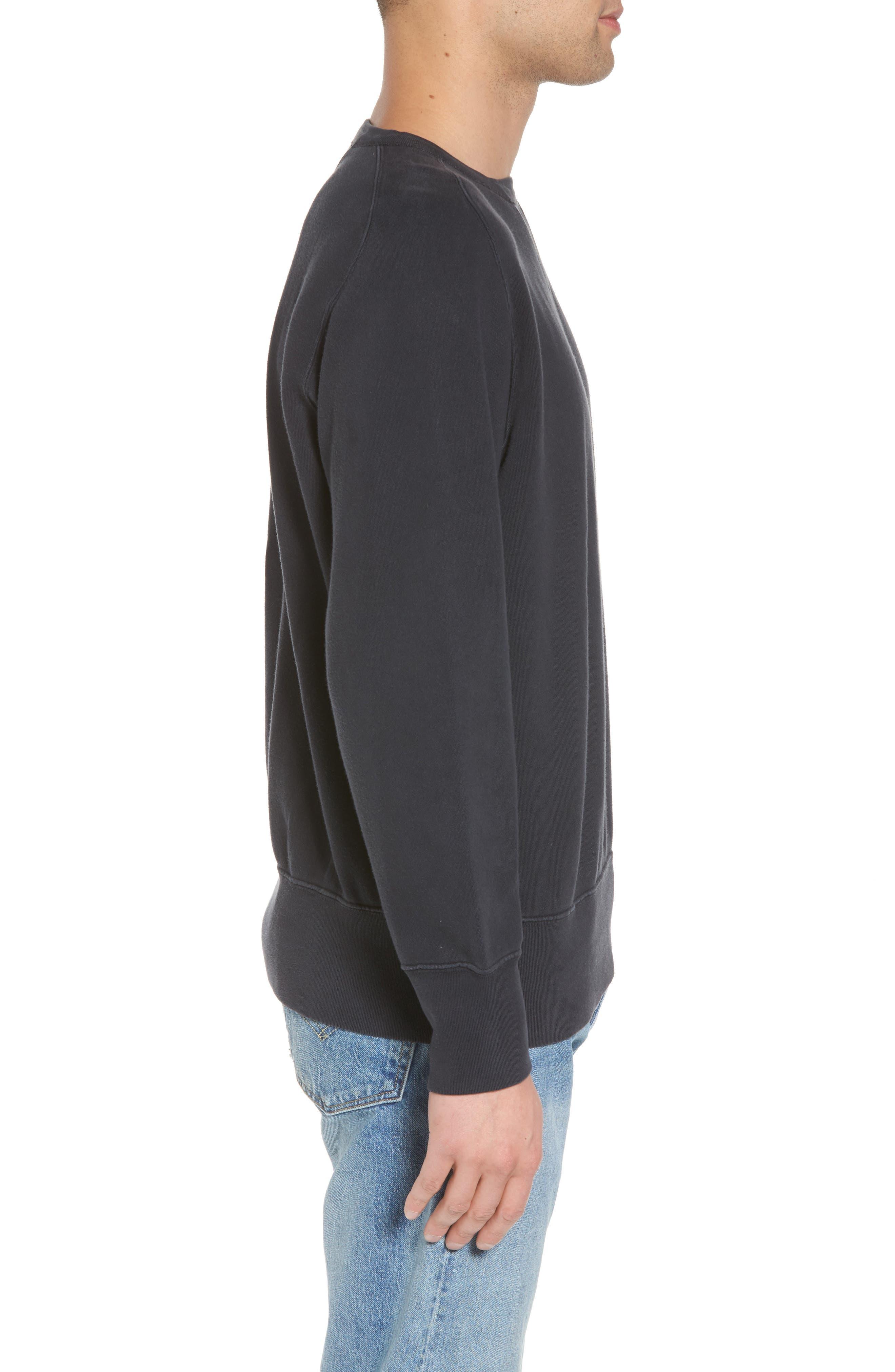 Bay Meadows Sweatshirt,                             Alternate thumbnail 3, color,                             BLACK