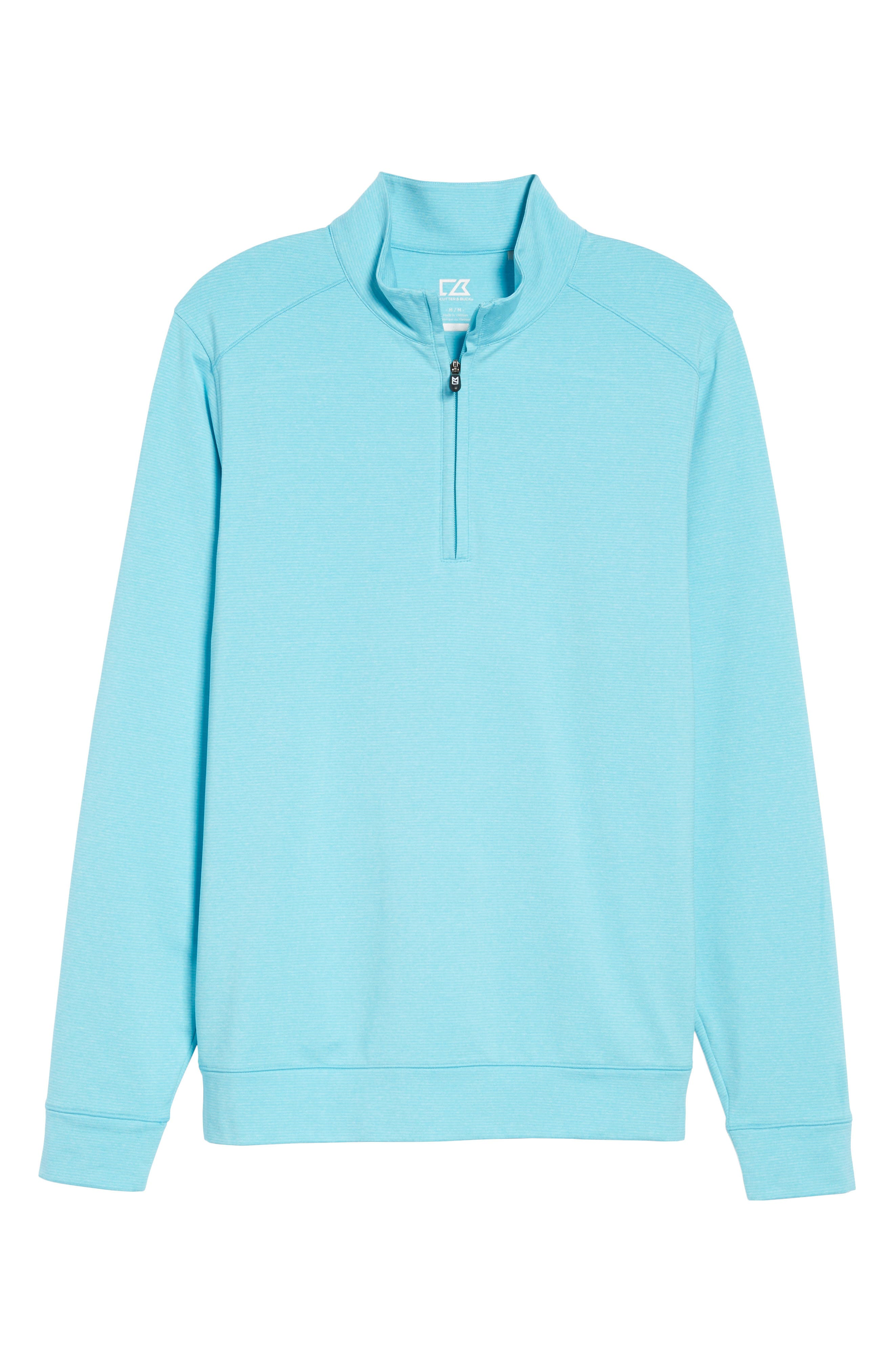 'Shoreline' Quarter Zip Pullover,                             Alternate thumbnail 6, color,                             ARUBA HEATHER