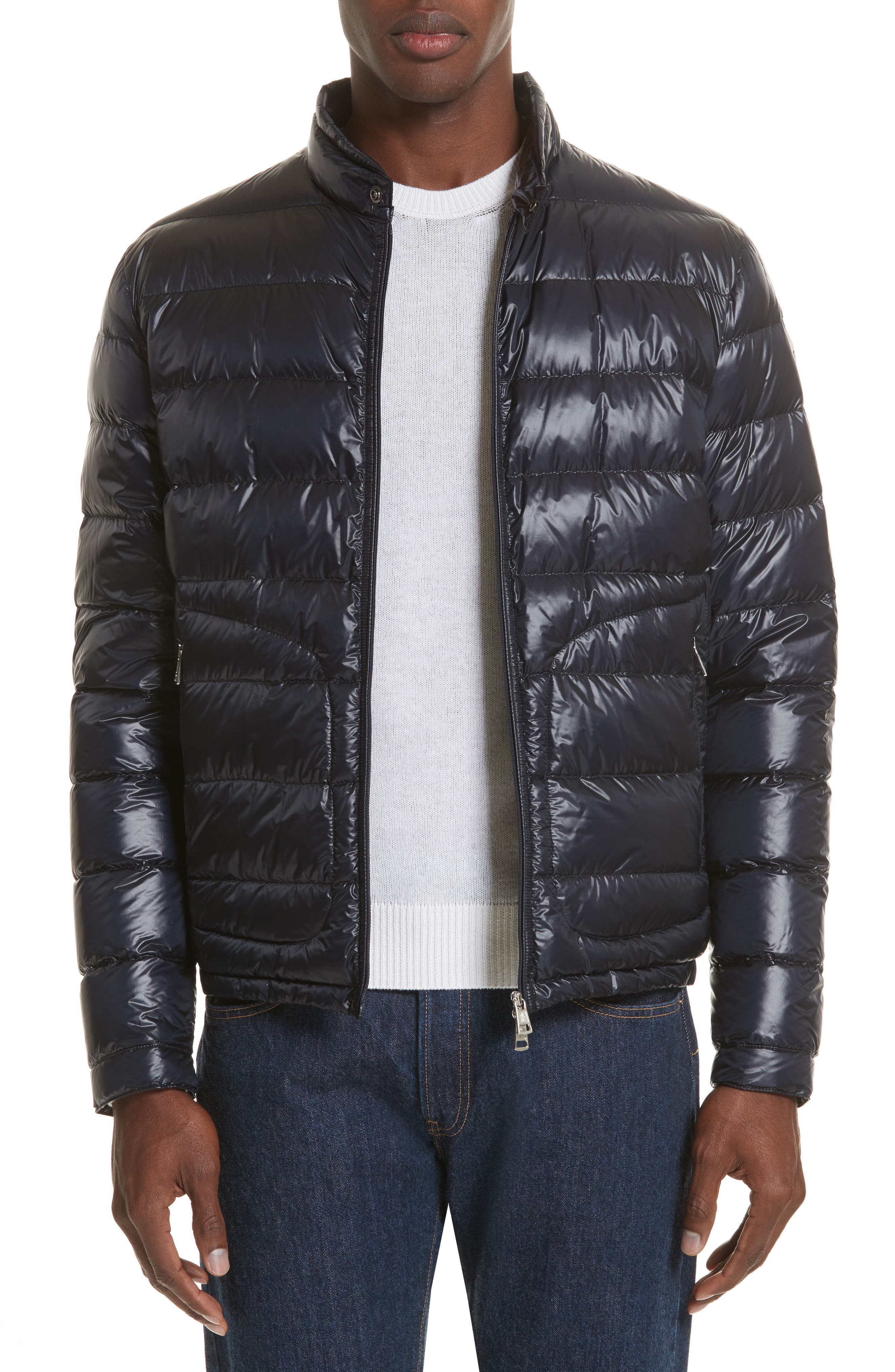 Acorus Down Quilted Jacket,                             Alternate thumbnail 4, color,                             BLUE