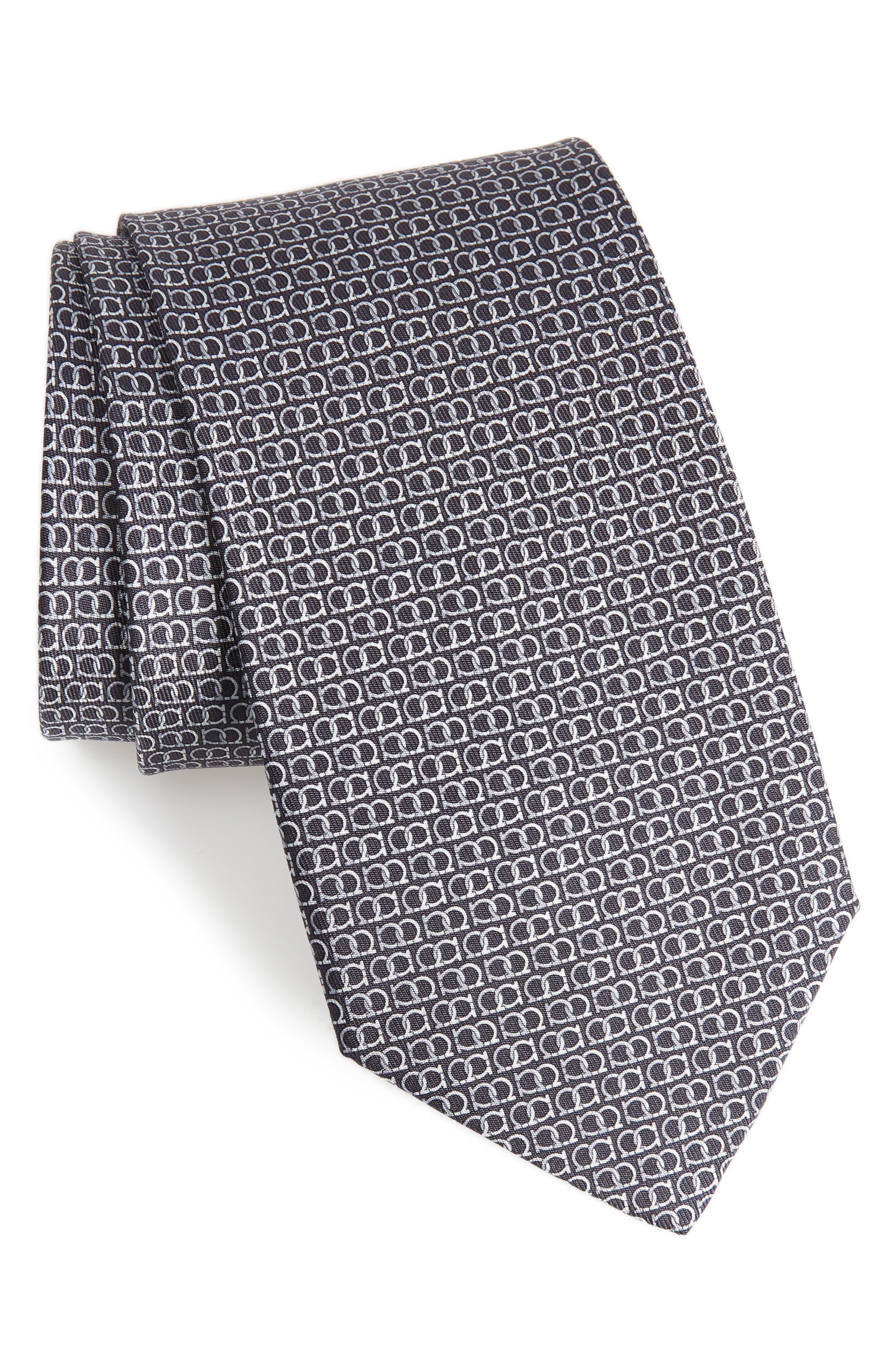 Ego Print Silk Tie,                         Main,                         color, 094