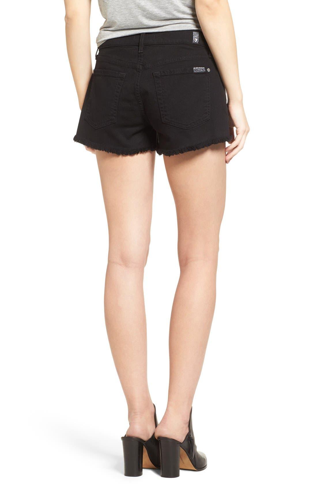 Cutoff Shorts,                             Alternate thumbnail 3, color,                             BLACK