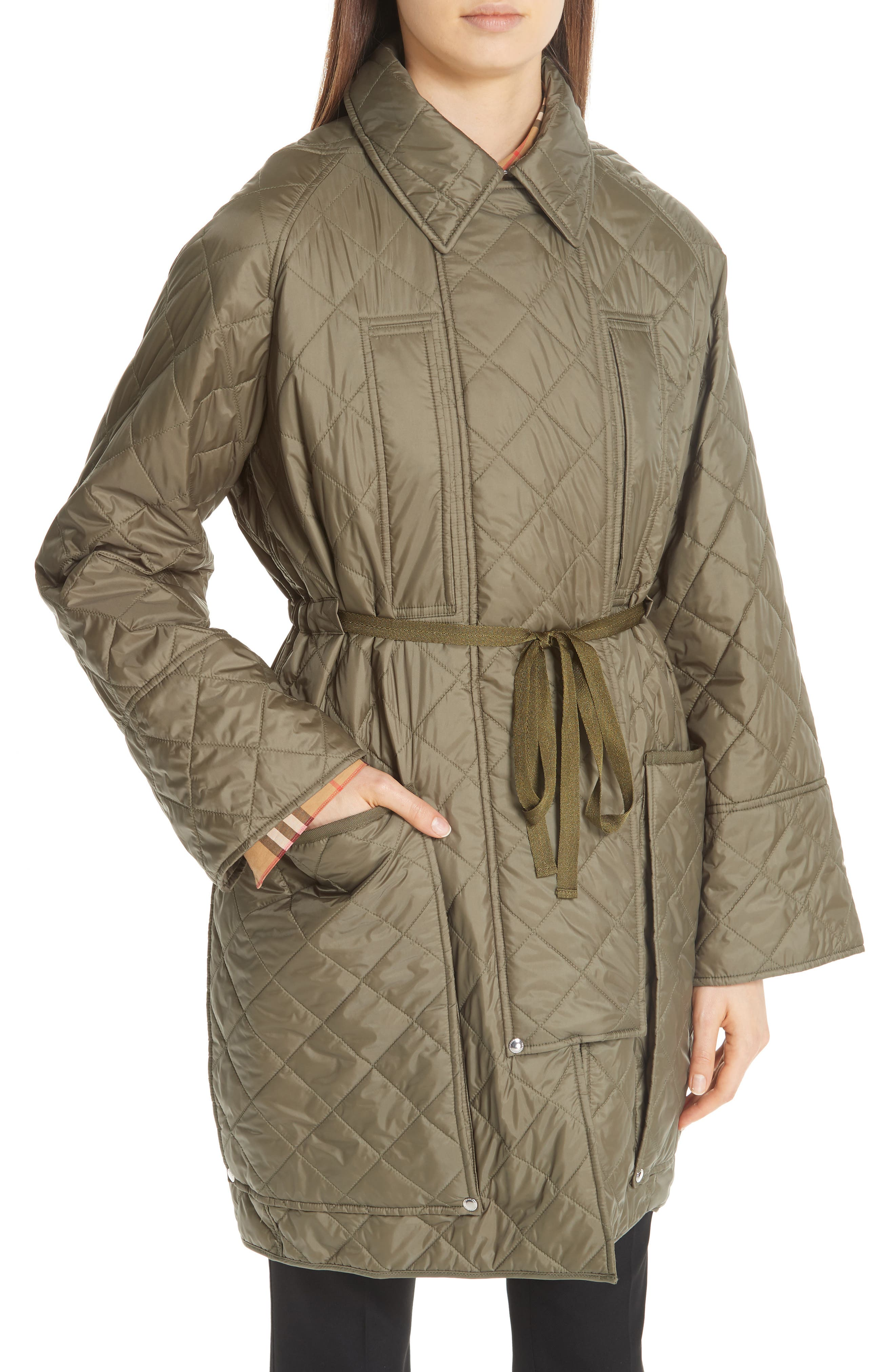 Coleraine Quilted Drawstring Jacket,                             Alternate thumbnail 2, color,                             CADET GREEN