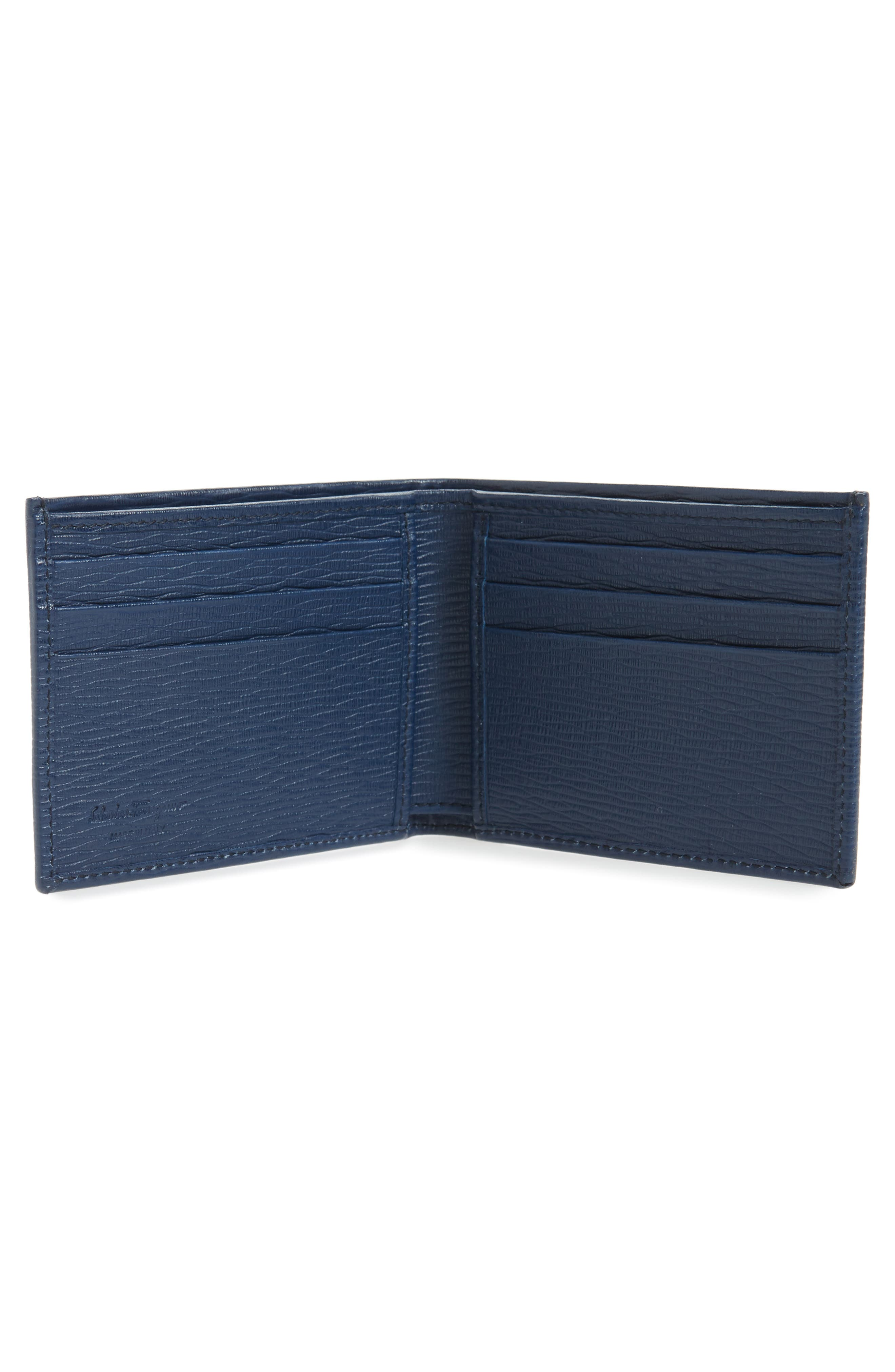 Revival Bifold Leather Wallet,                             Alternate thumbnail 2, color,                             BLUE