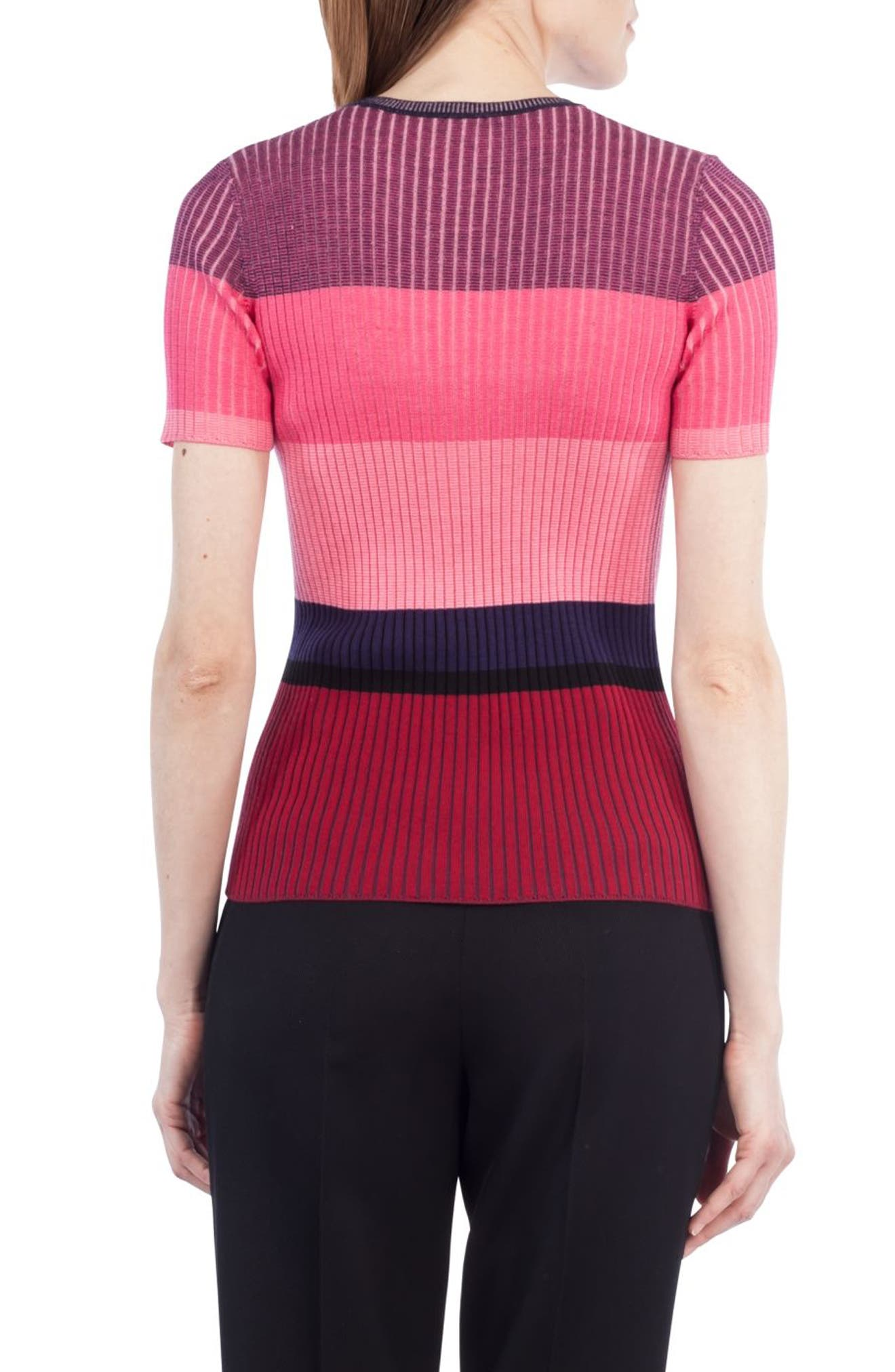 Colorblock Wool Top,                             Alternate thumbnail 2, color,                             667