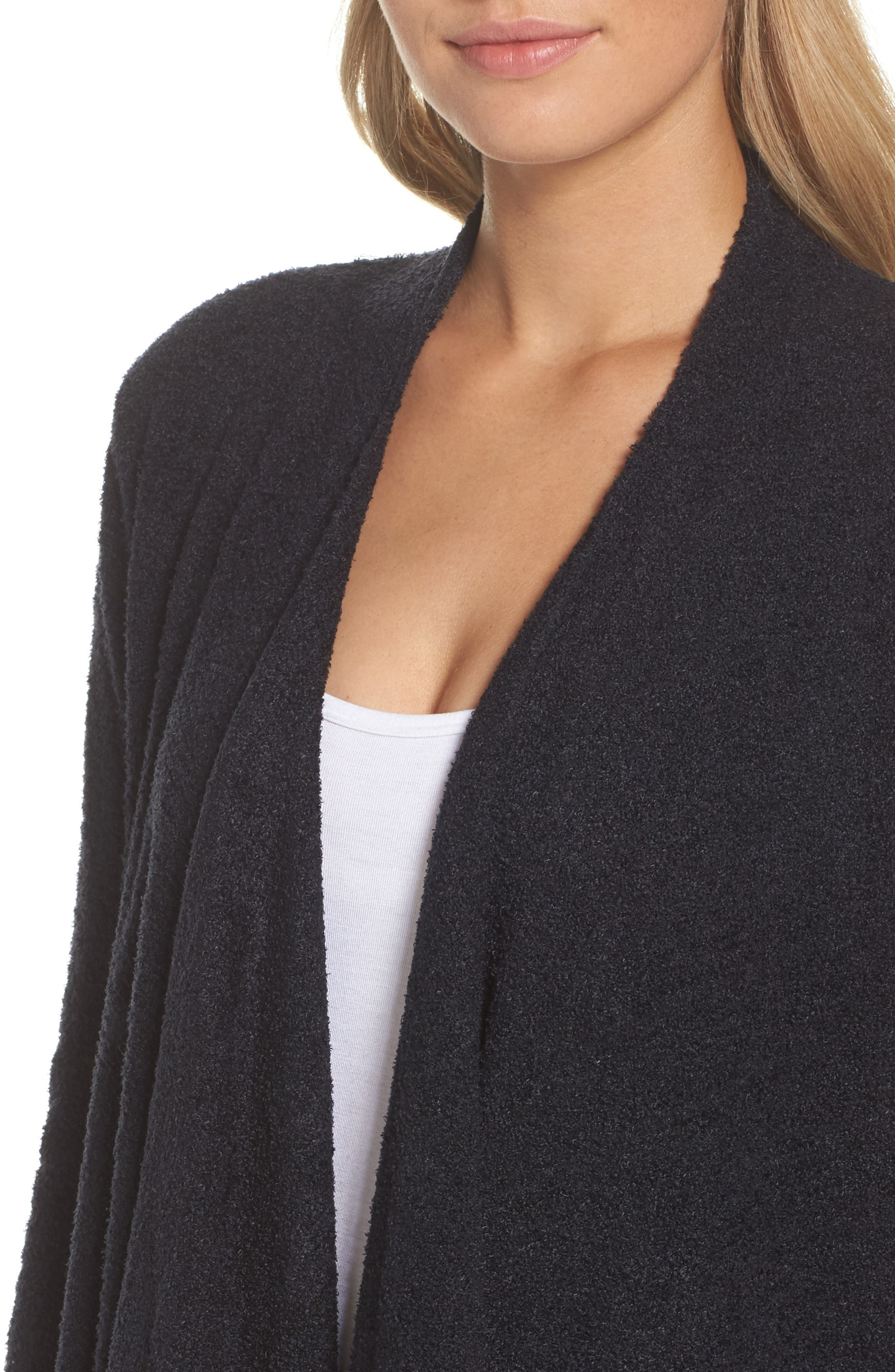CozyChic Lite<sup>®</sup> Calypso Wrap Cardigan,                             Alternate thumbnail 4, color,                             BLACK