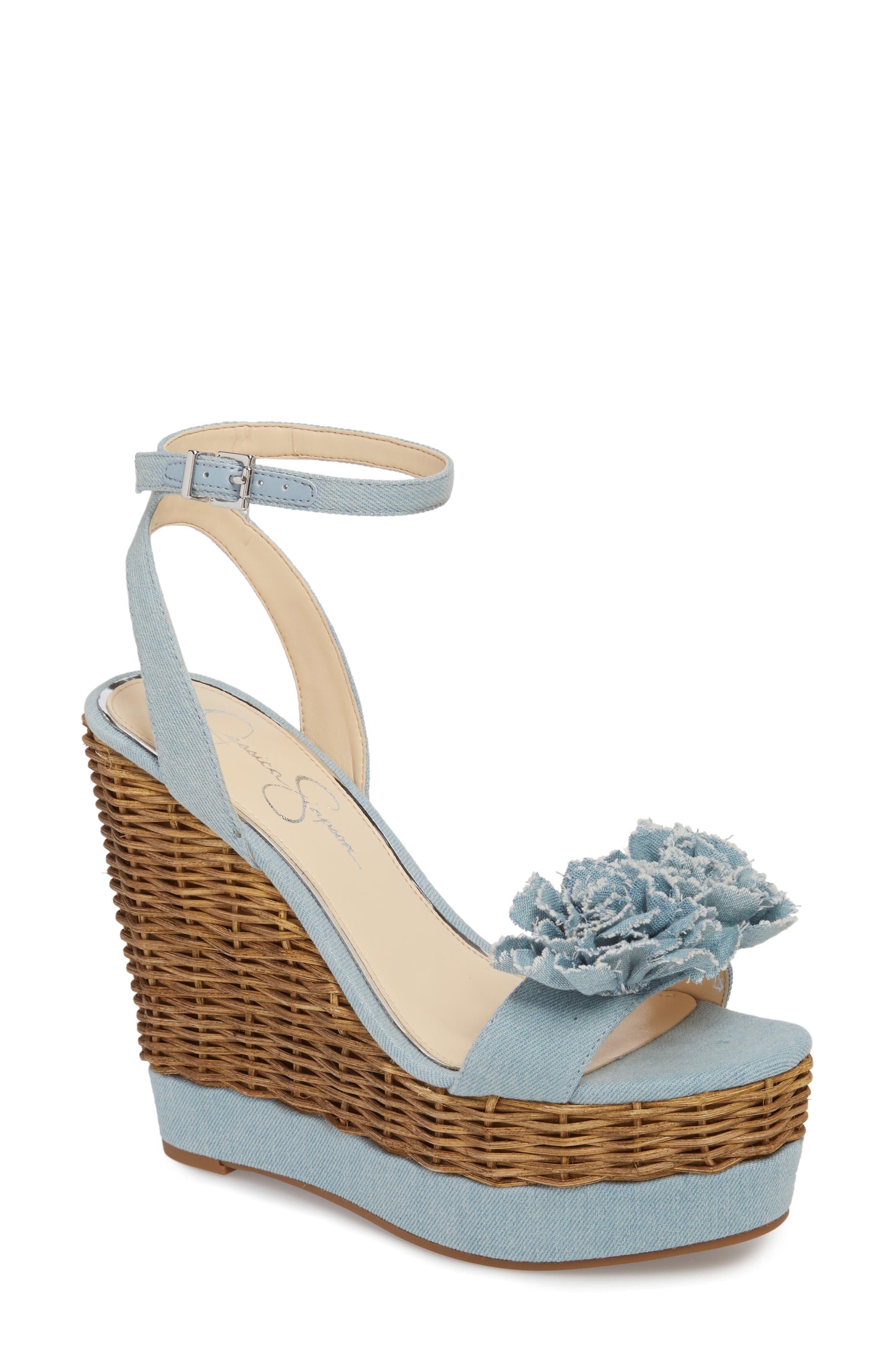 Pressa Platform Wedge Sandal,                         Main,                         color, VINTAGE BLUE
