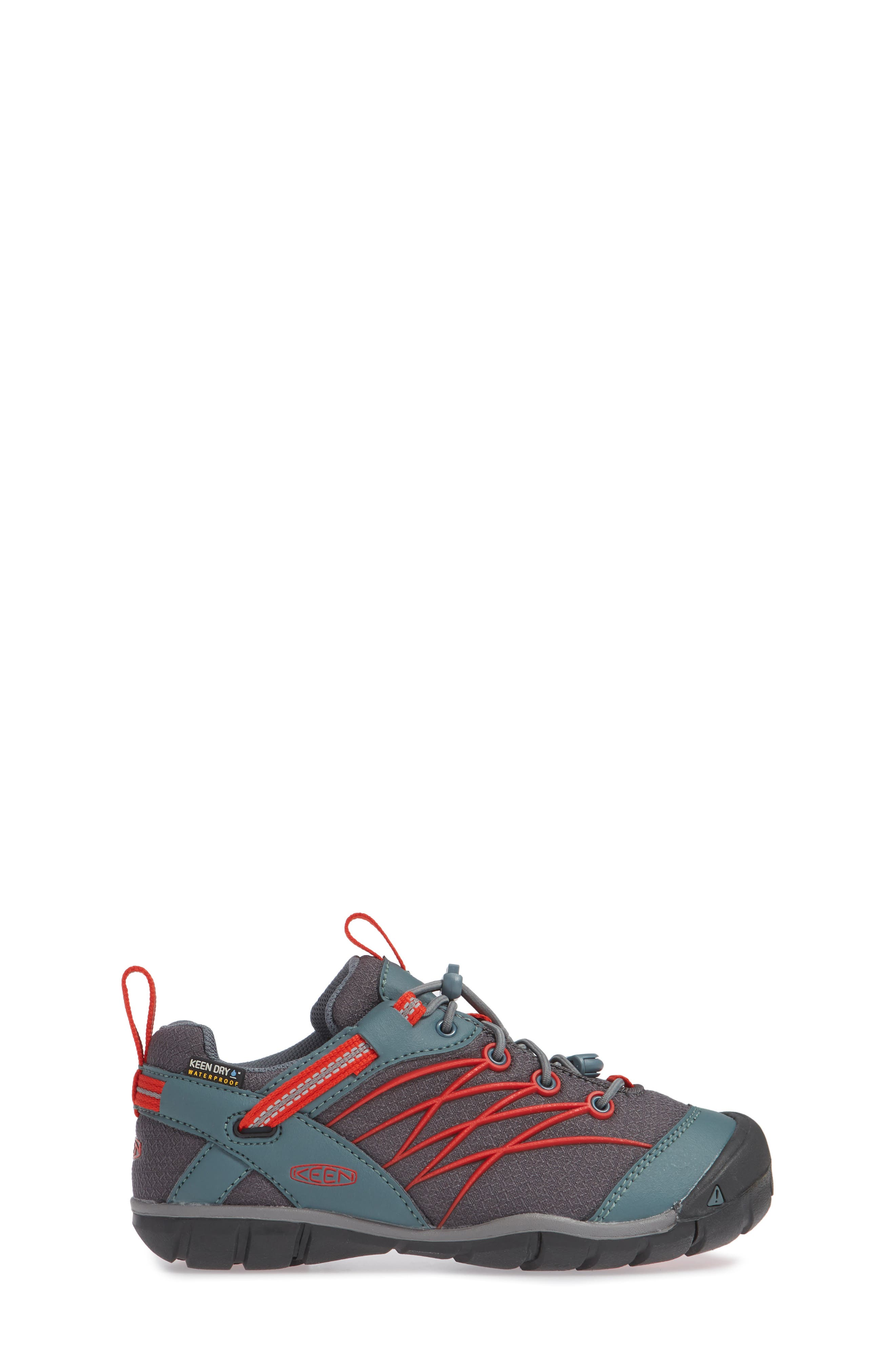 Chandler CNX Waterproof Sneaker,                             Alternate thumbnail 3, color,                             STORMY/ RED