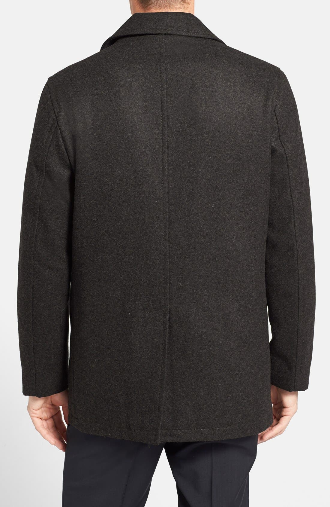 Wool Blend Double Breasted Peacoat,                             Alternate thumbnail 98, color,