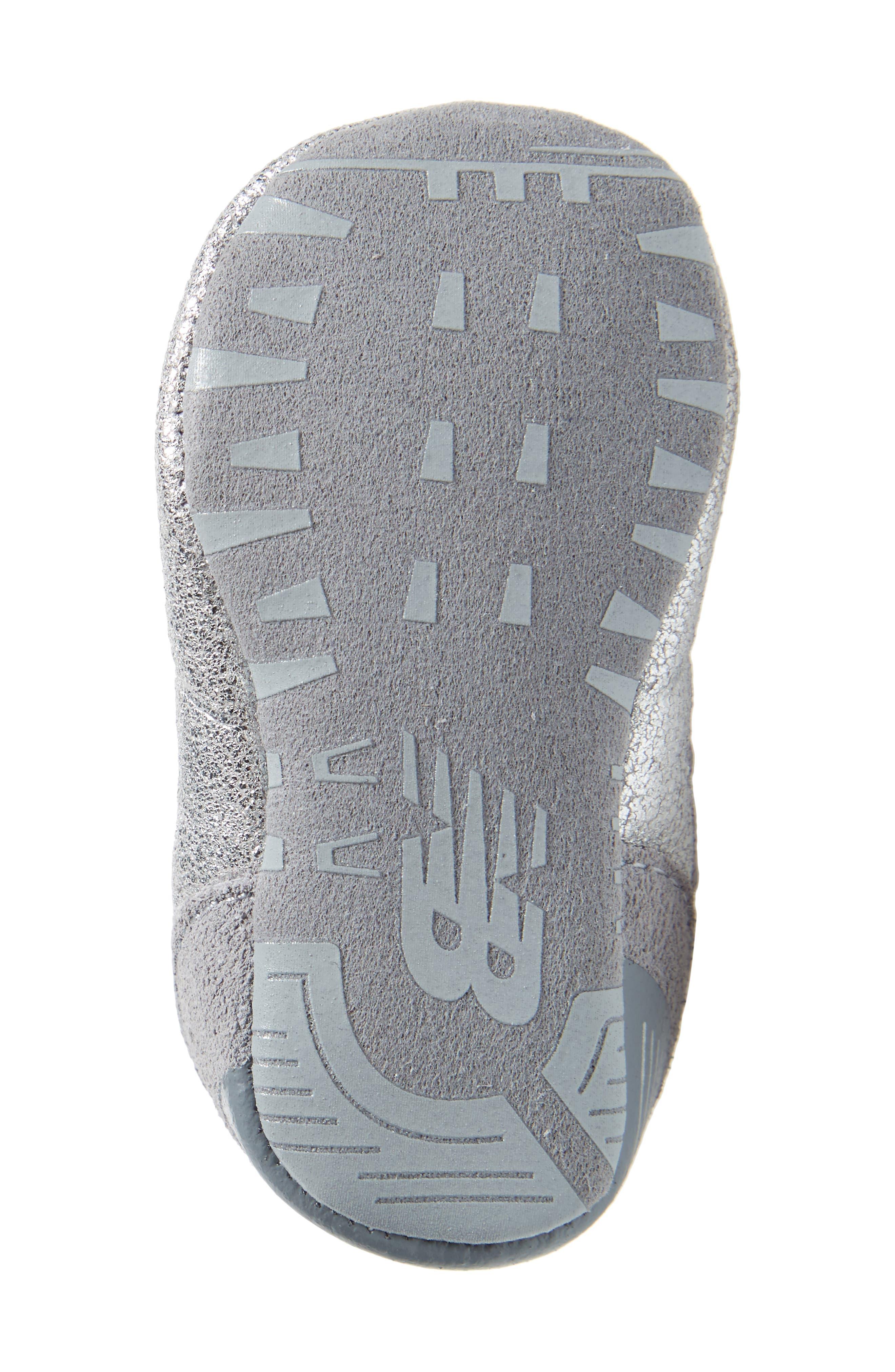 574 Metallic Crib Sneaker,                             Alternate thumbnail 6, color,                             040