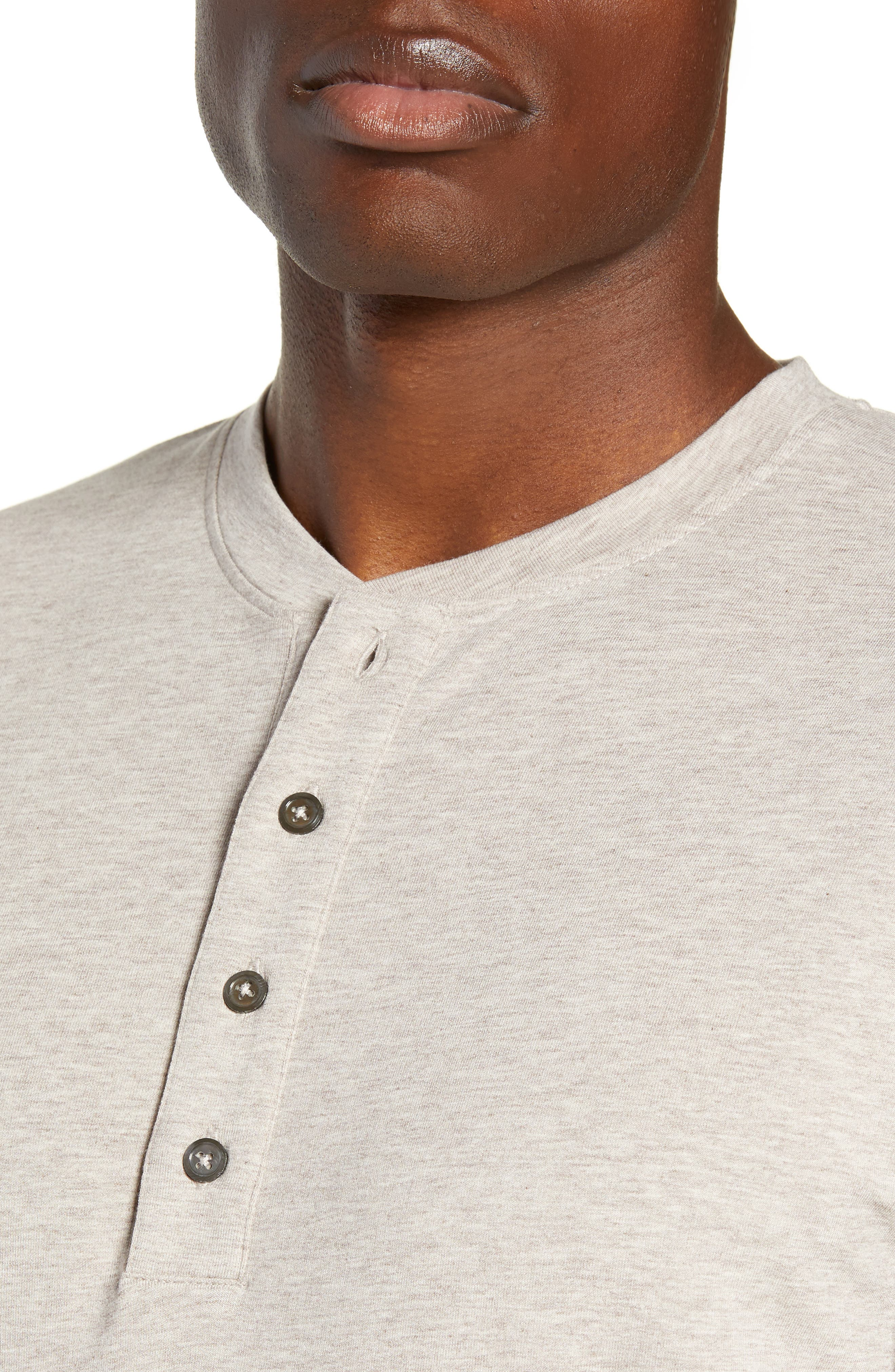 Legacy Heathered Henley,                             Alternate thumbnail 4, color,                             CRATER HEATHER