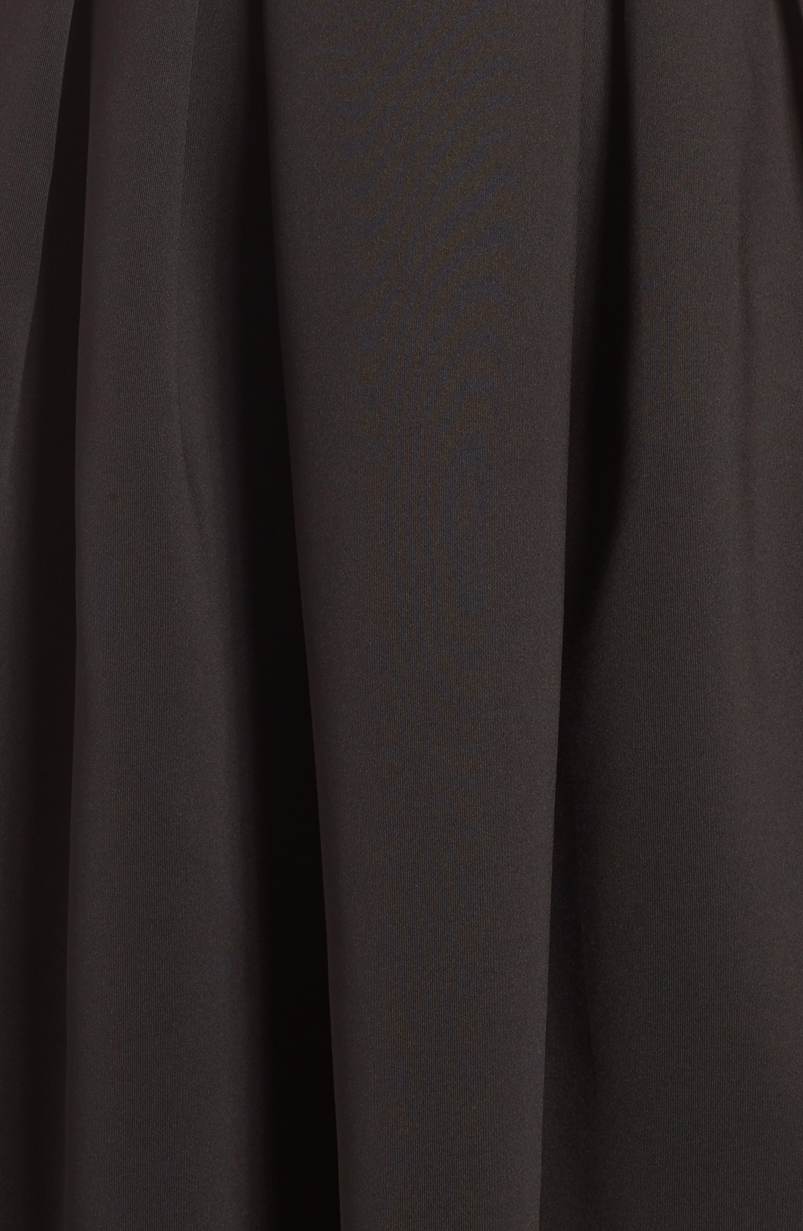 Fit & Flare Scuba Dress,                             Alternate thumbnail 6, color,                             001