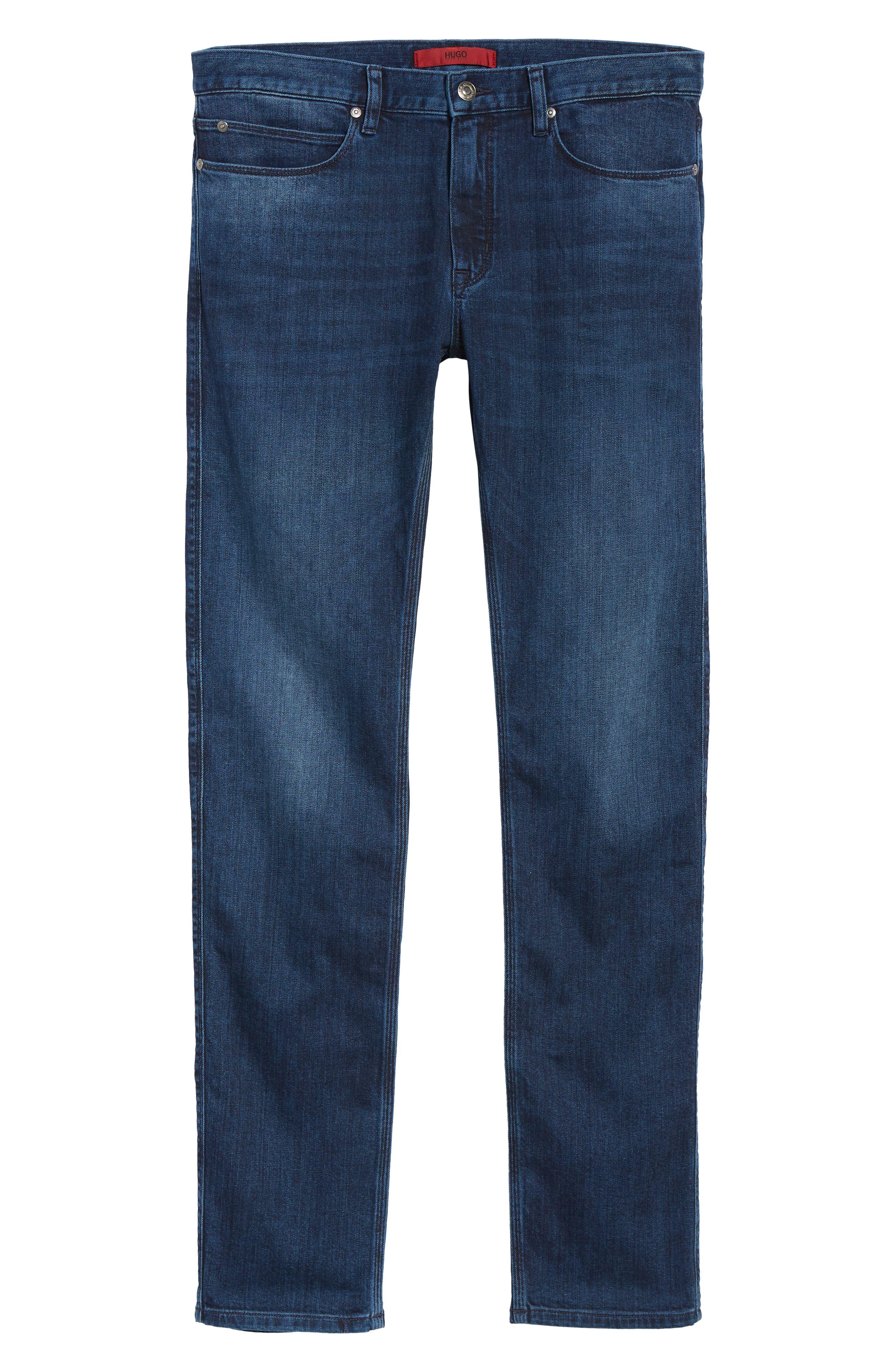 708 Stretch Slim Fit Jeans,                             Alternate thumbnail 6, color,                             BLUE