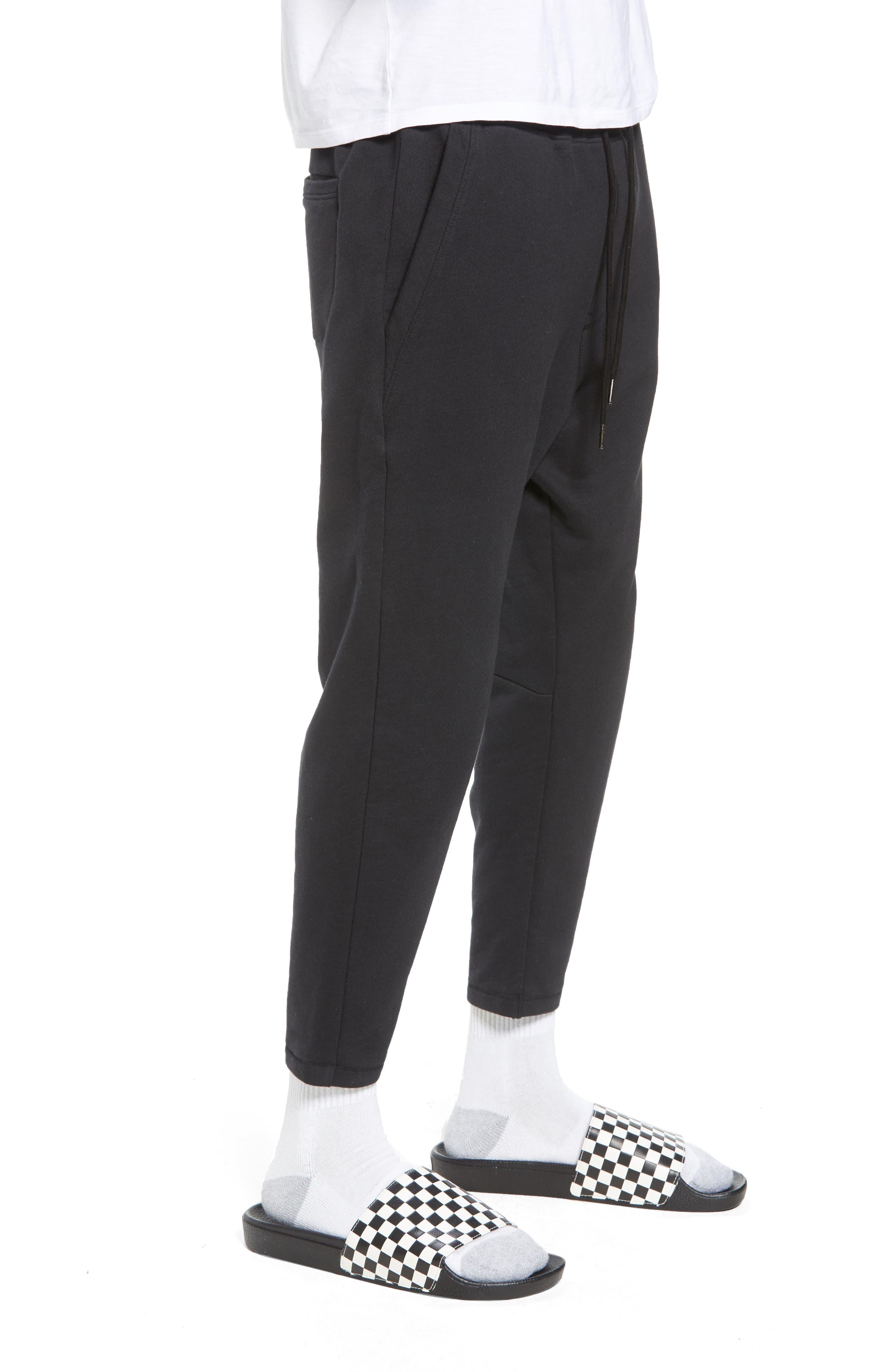 Cropped Sweatpants,                             Alternate thumbnail 3, color,                             001