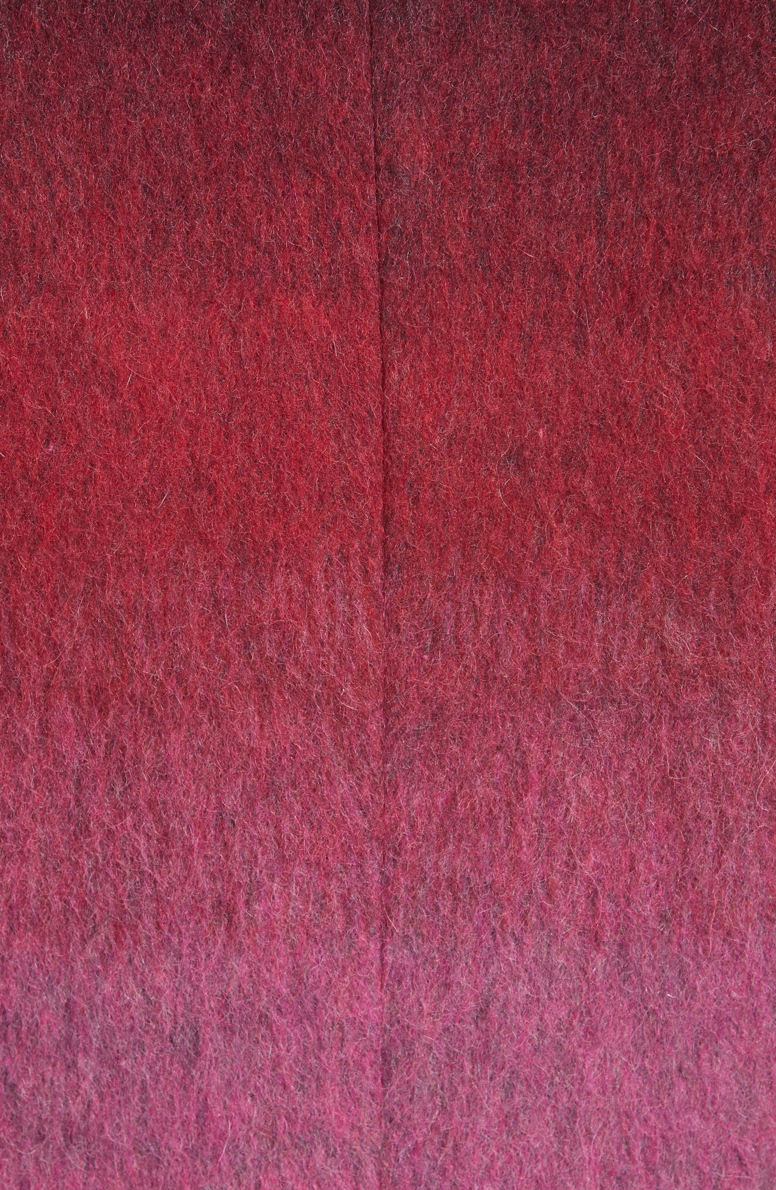 Collection Dégradé Wool Blend Coat,                             Alternate thumbnail 6, color,