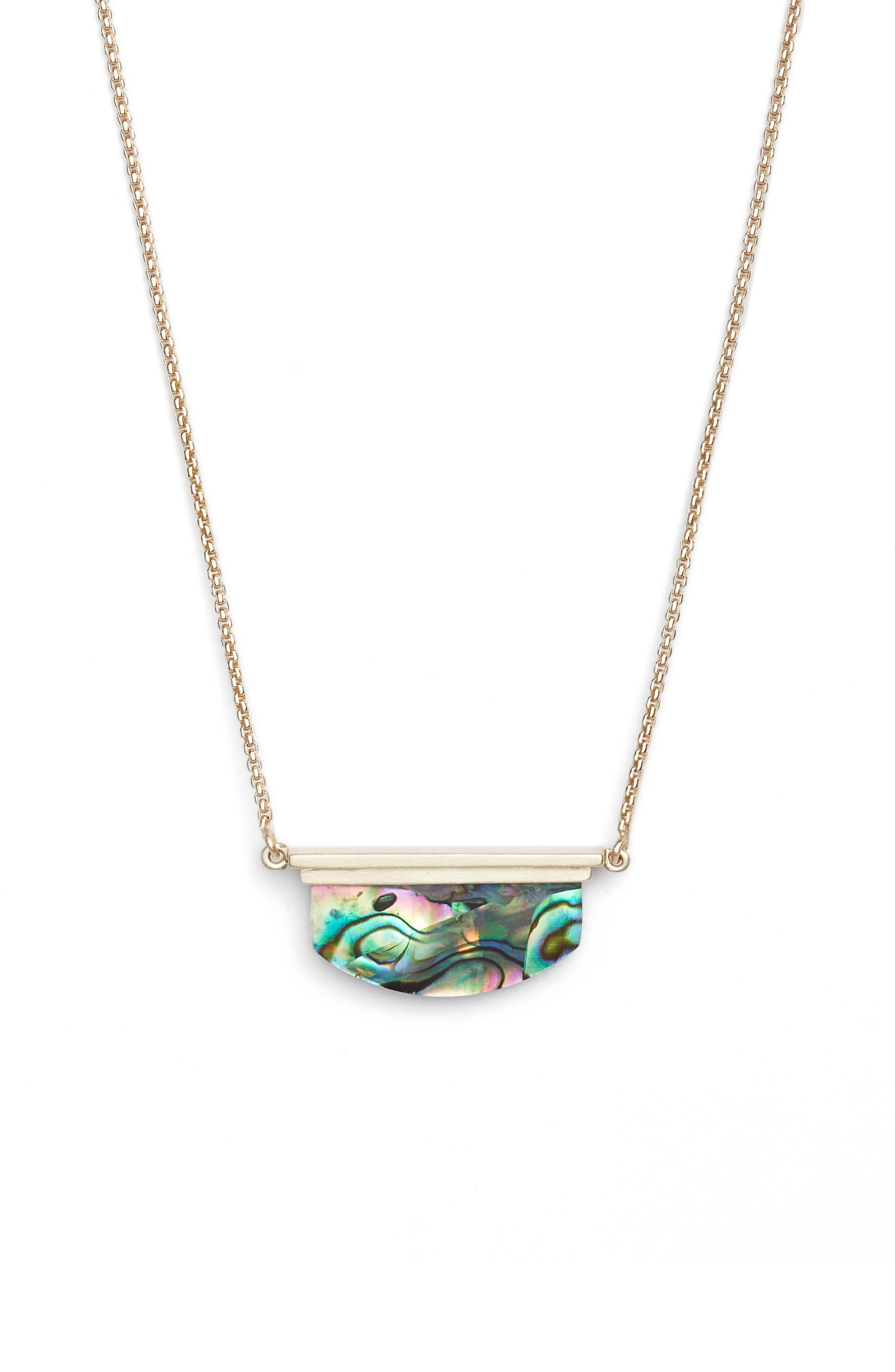 Dean Necklace,                             Alternate thumbnail 2, color,                             ABALONE SHELL/ GOLD