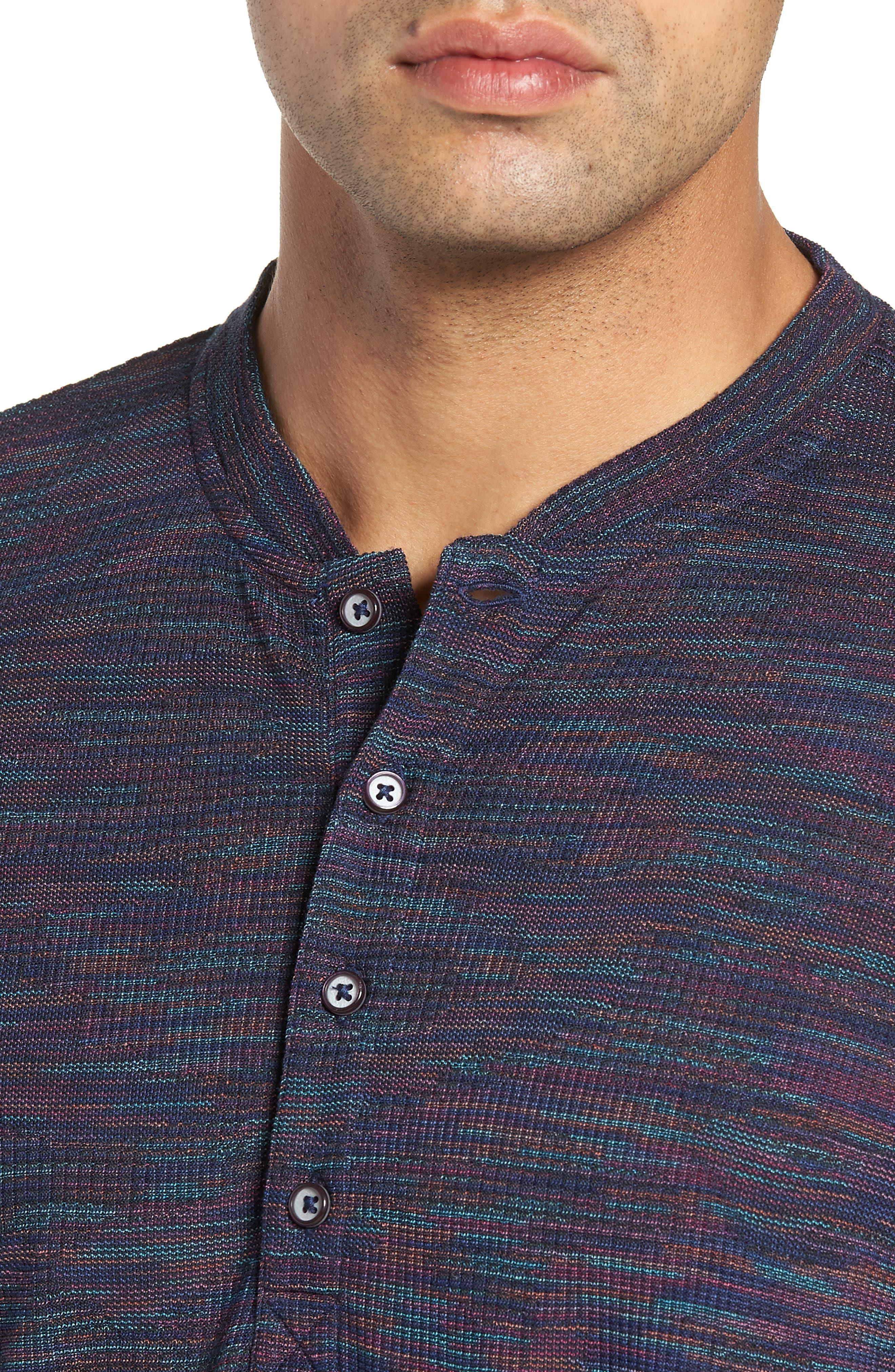 Forster Long Sleeve Henley Shirt,                             Alternate thumbnail 4, color,                             NAVY
