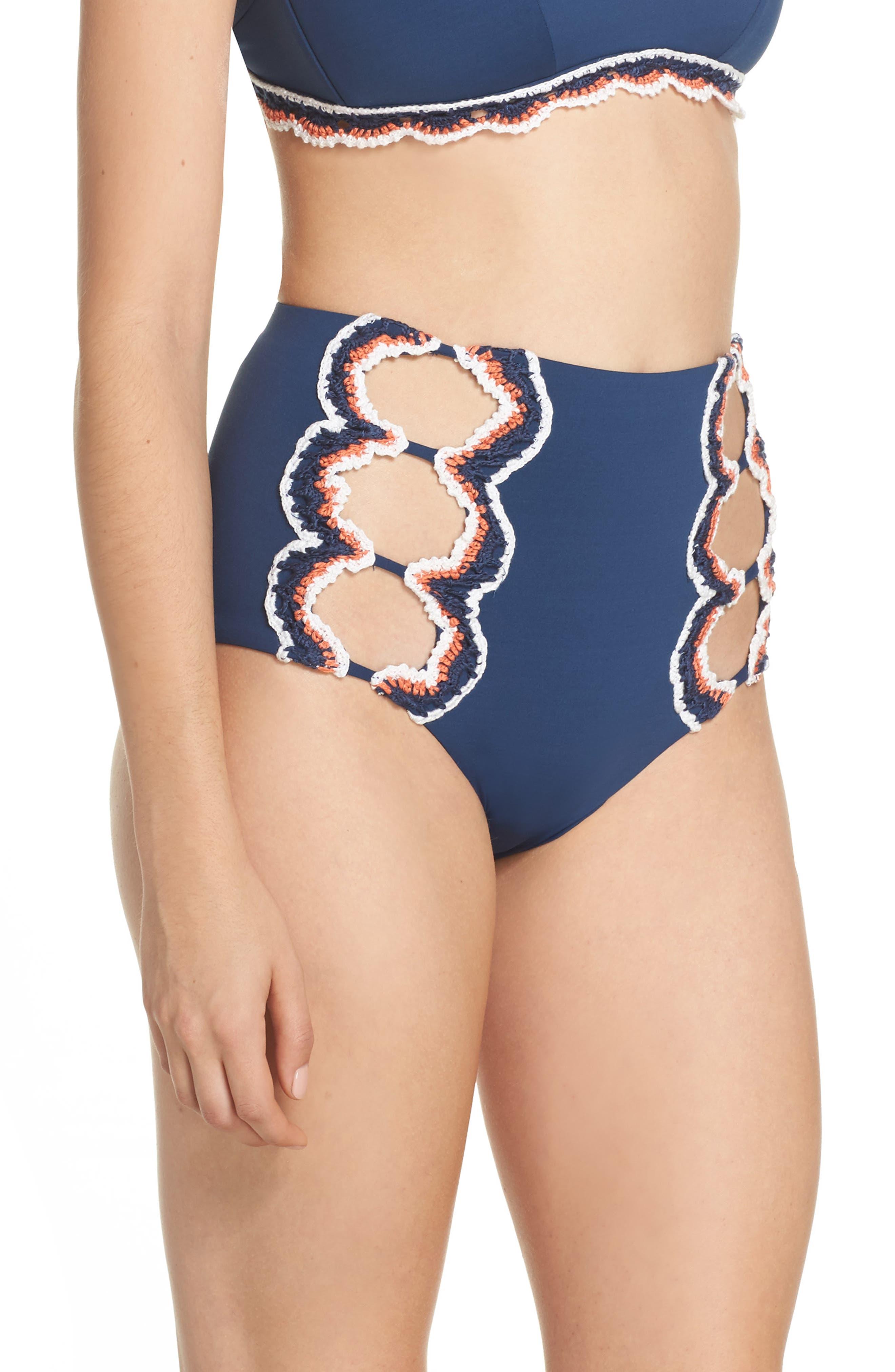 Medina High Waist Bikini Bottoms,                             Alternate thumbnail 3, color,                             405