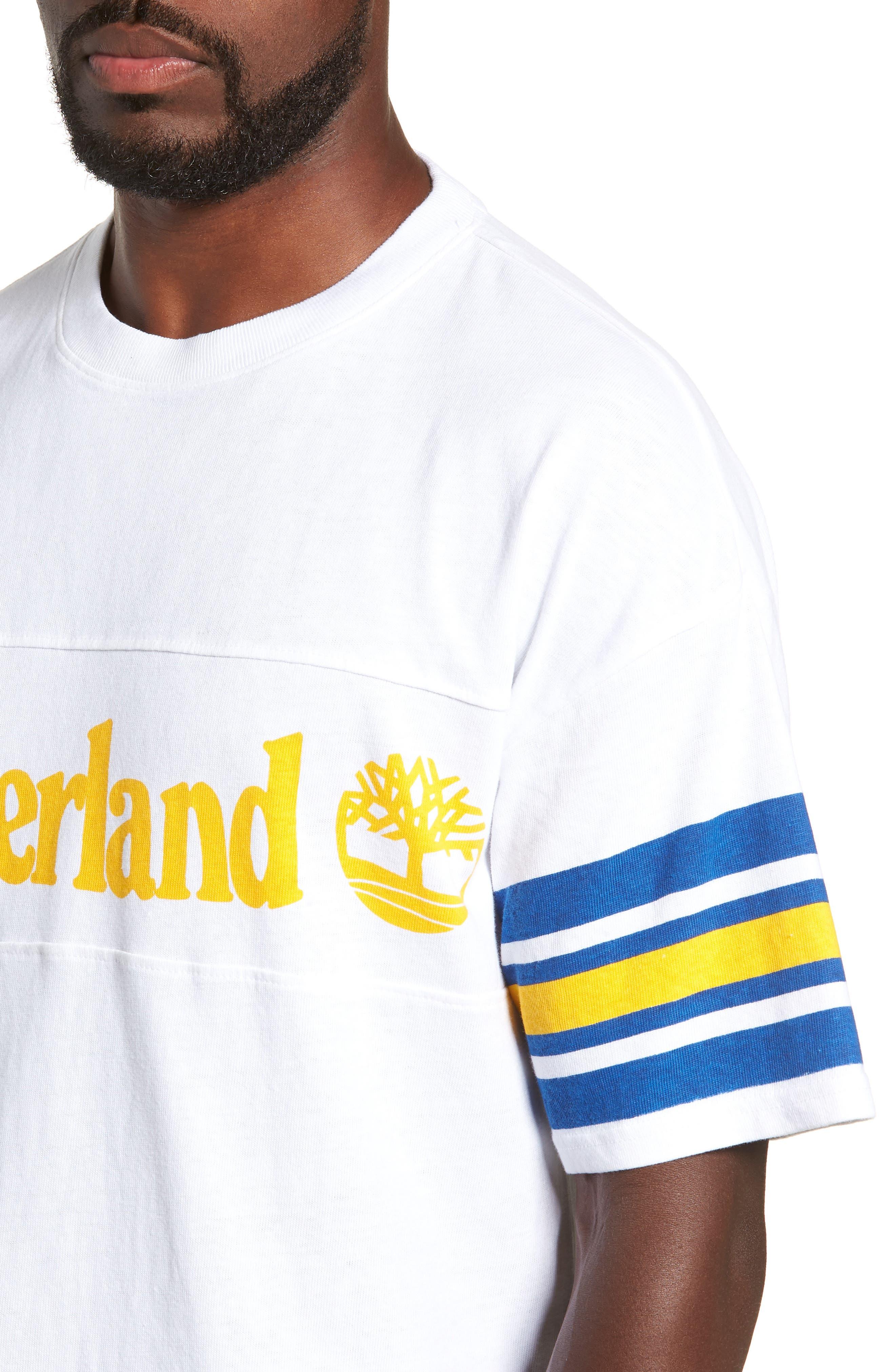 Oversize '90s Logo T-Shirt,                             Alternate thumbnail 4, color,                             WHITE