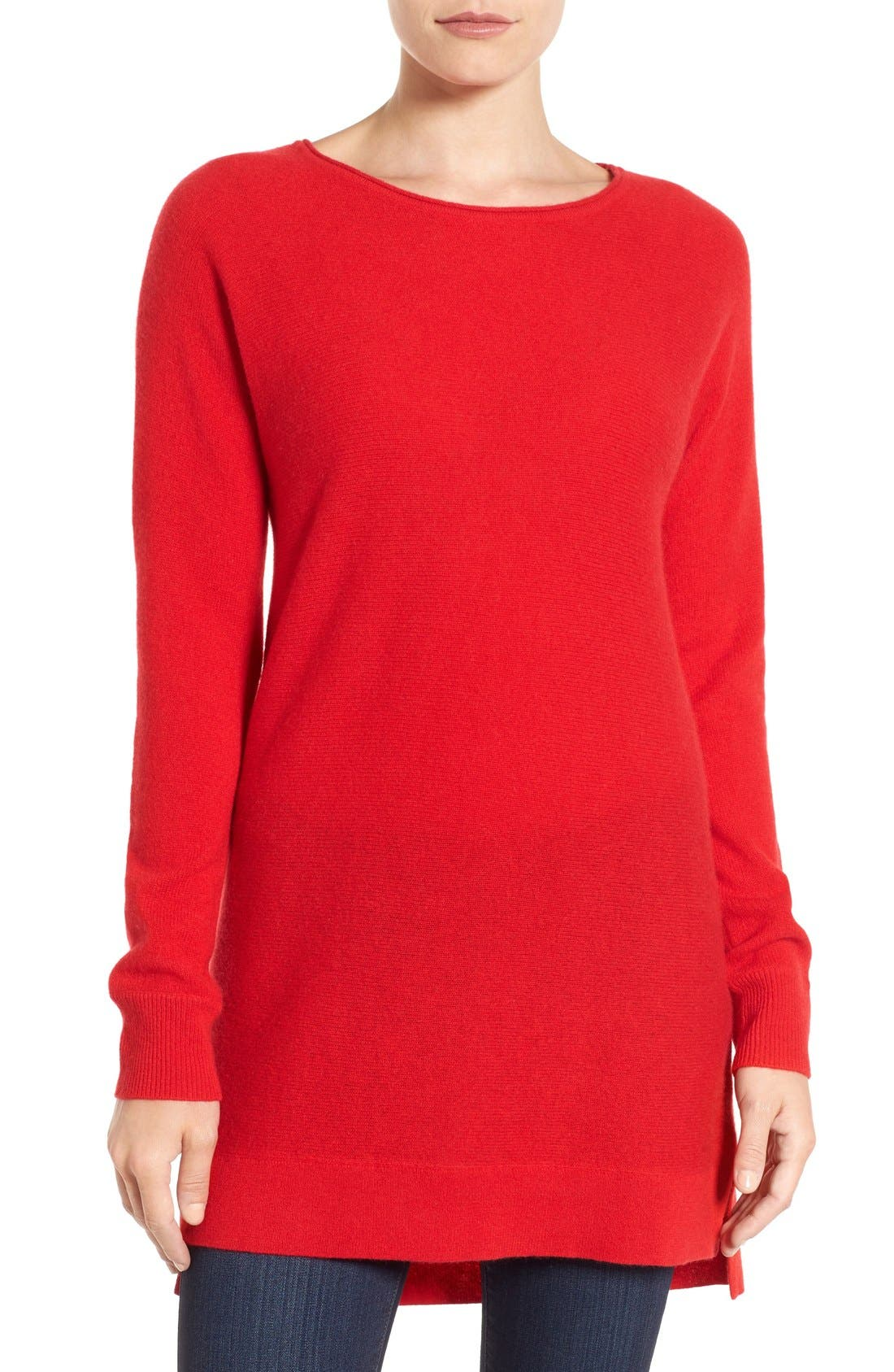 High/Low Wool & Cashmere Tunic Sweater,                             Main thumbnail 14, color,