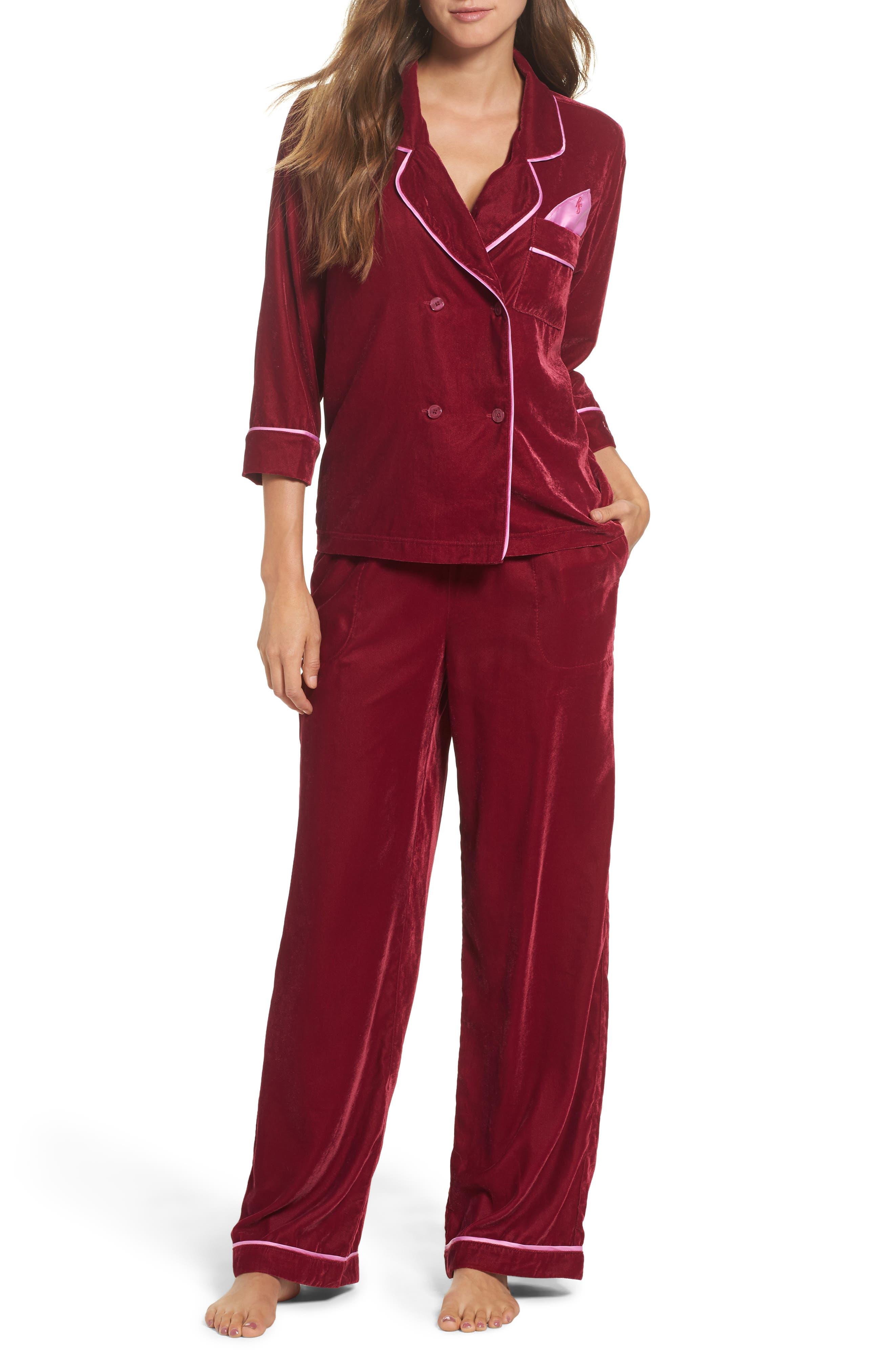 Velvet Pajama Pants,                             Alternate thumbnail 21, color,