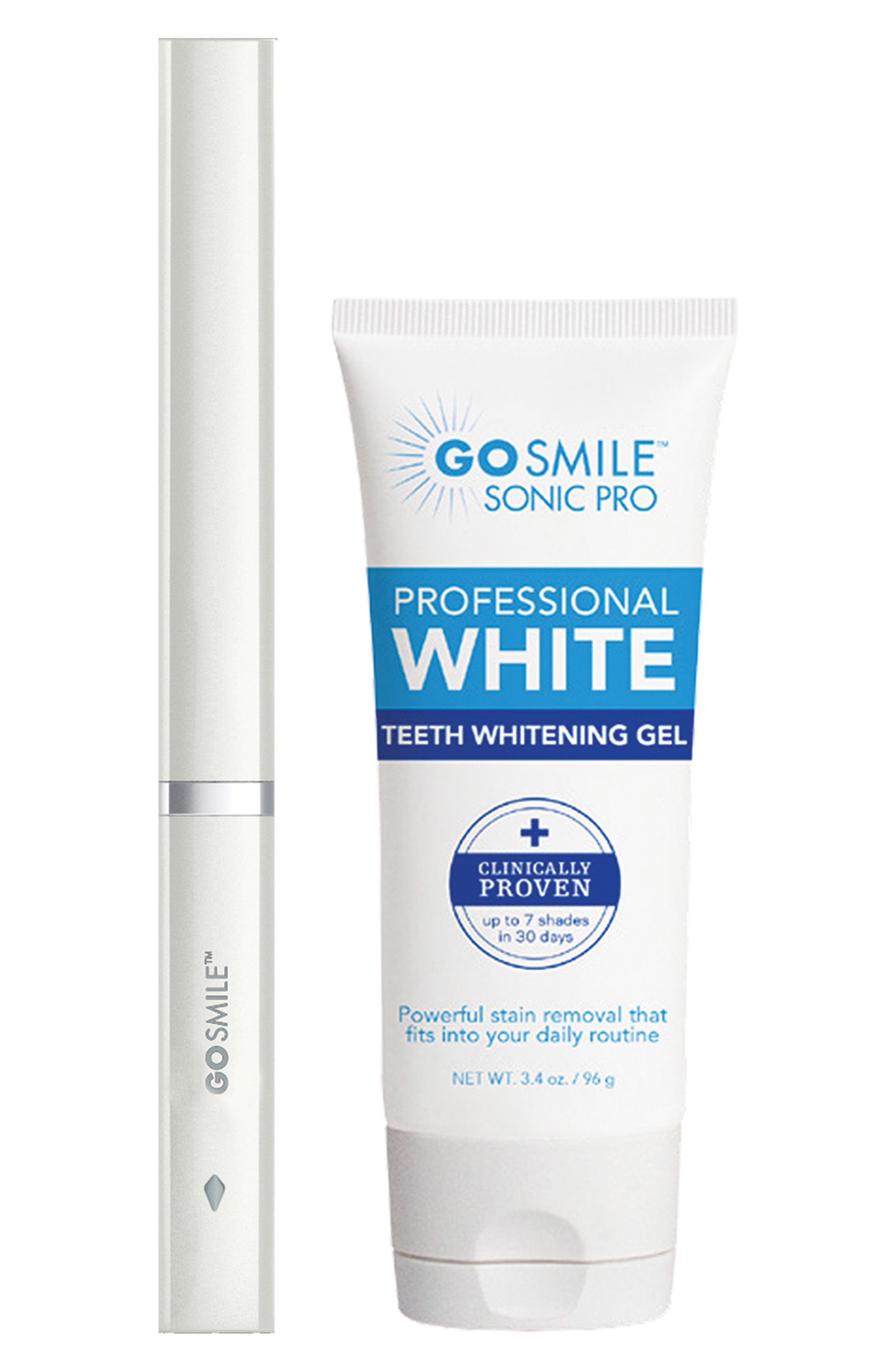 'Dental Pro On-the-Go - Sonic Blue' Teeth Whitening System,                         Main,                         color, WHITE
