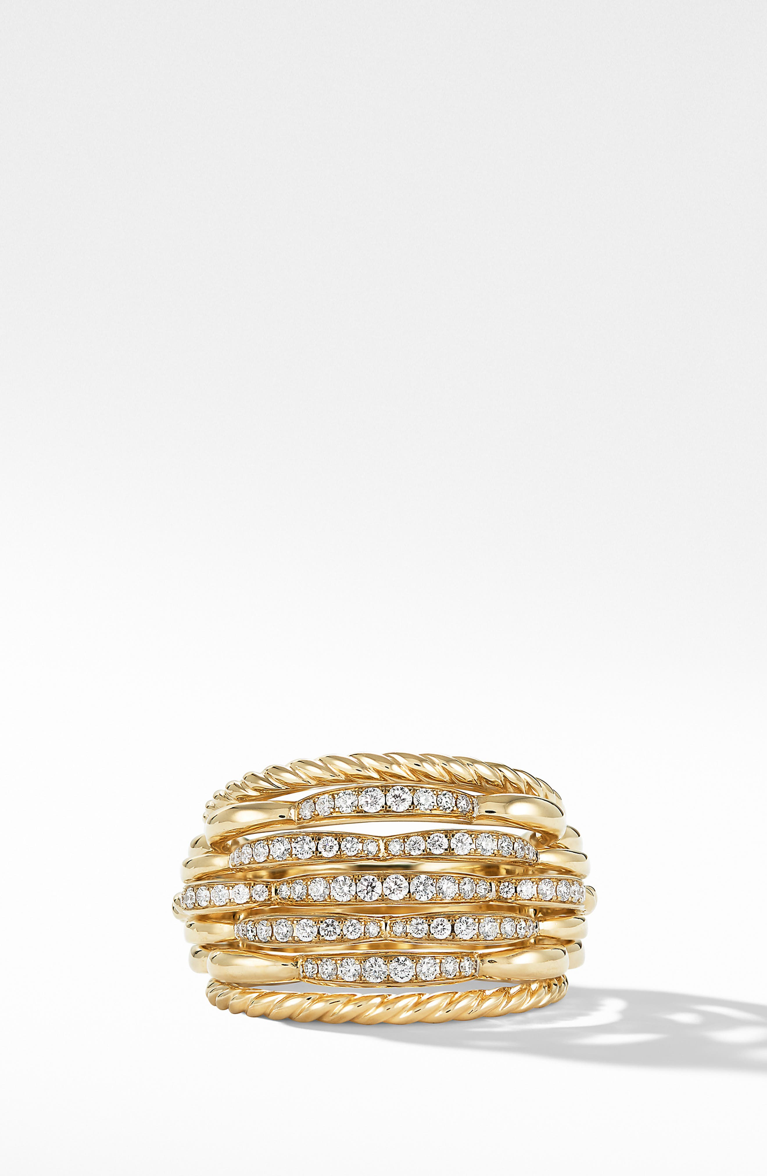 Tides Dome Ring with Diamonds,                             Alternate thumbnail 3, color,                             GOLD/ DIAMOND