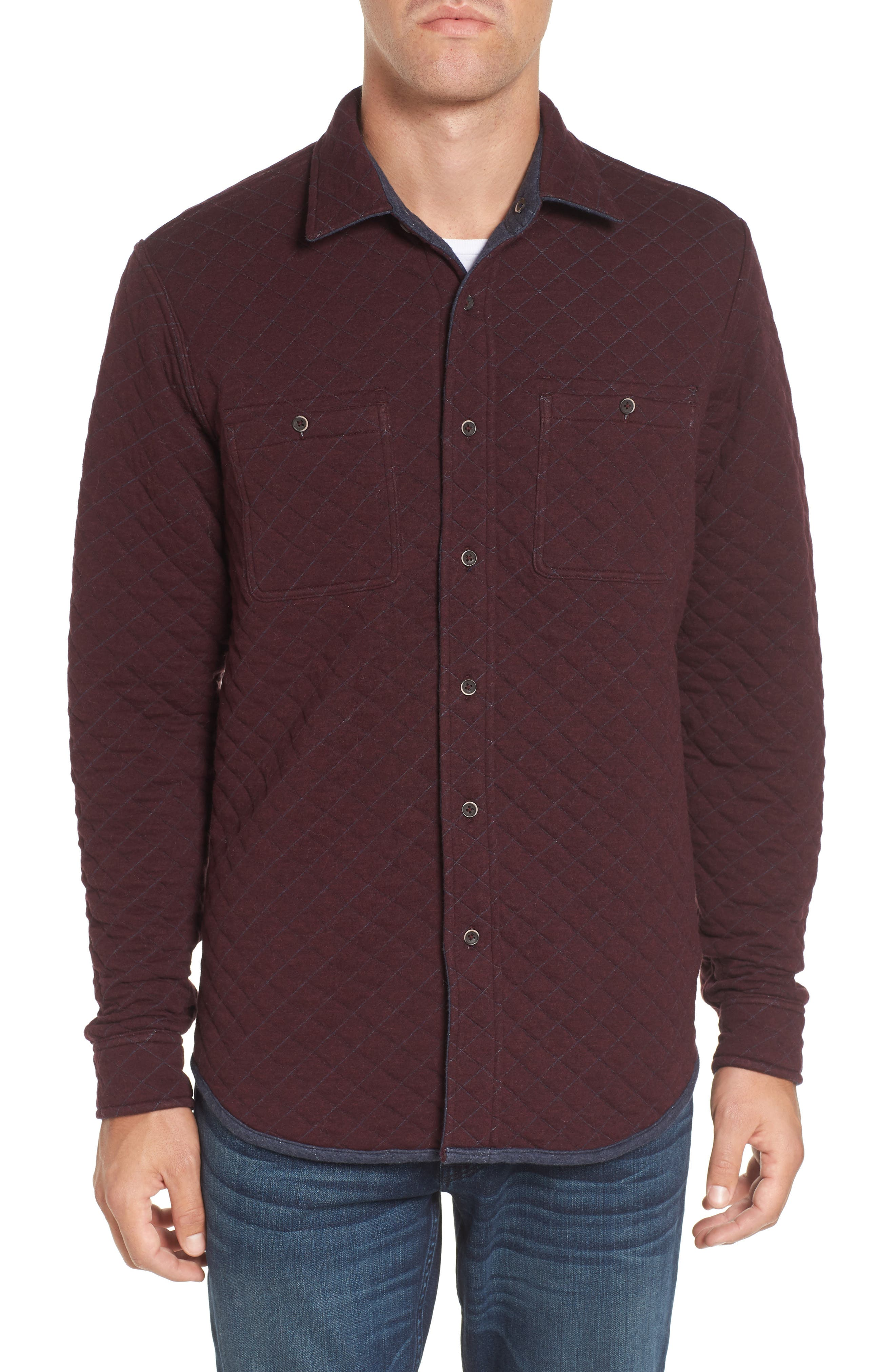 Reversible Double-Face Quilted Shirt,                             Alternate thumbnail 8, color,