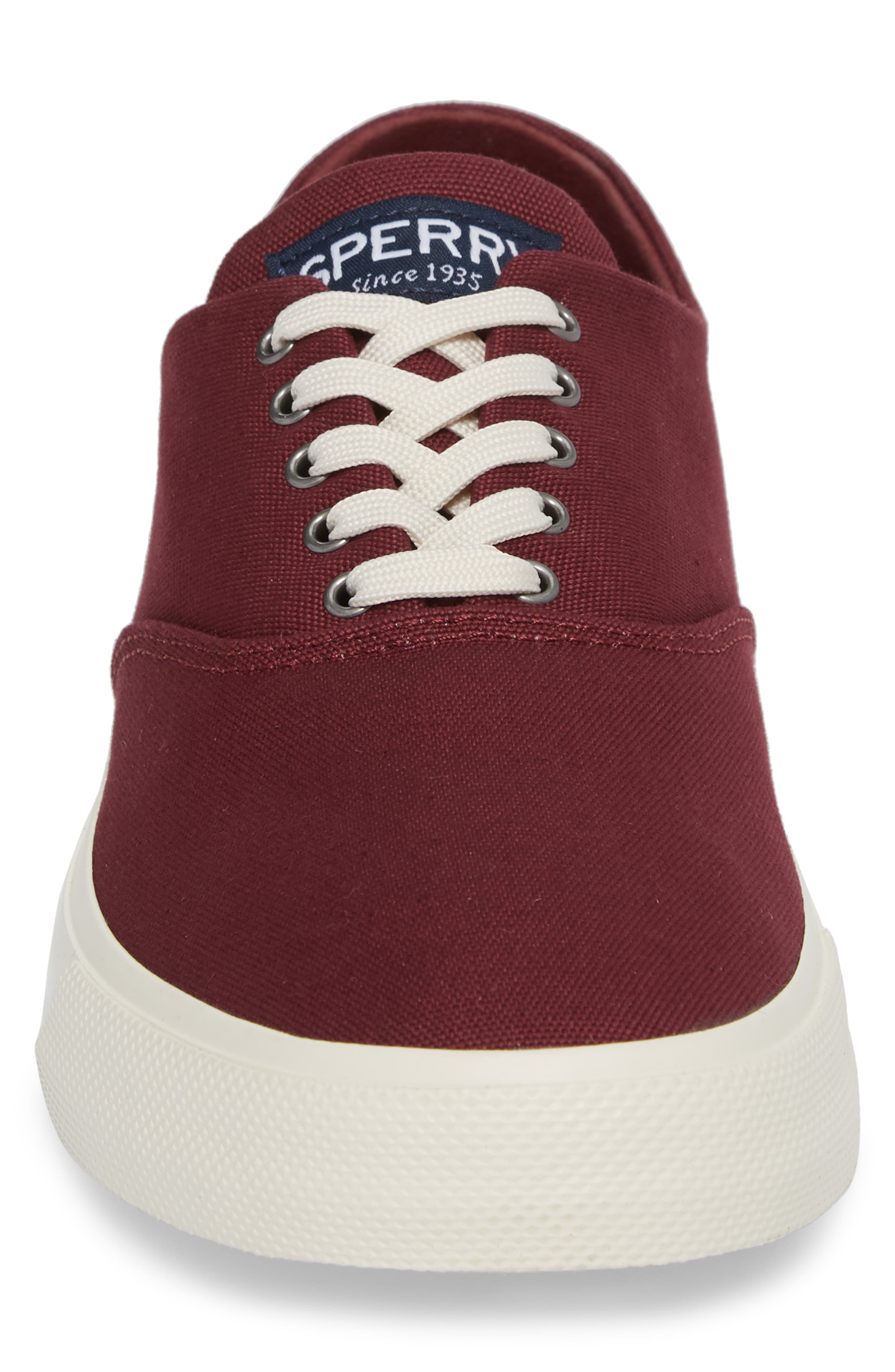 Captain's CVO Sneaker,                             Alternate thumbnail 4, color,                             WINE FABRIC