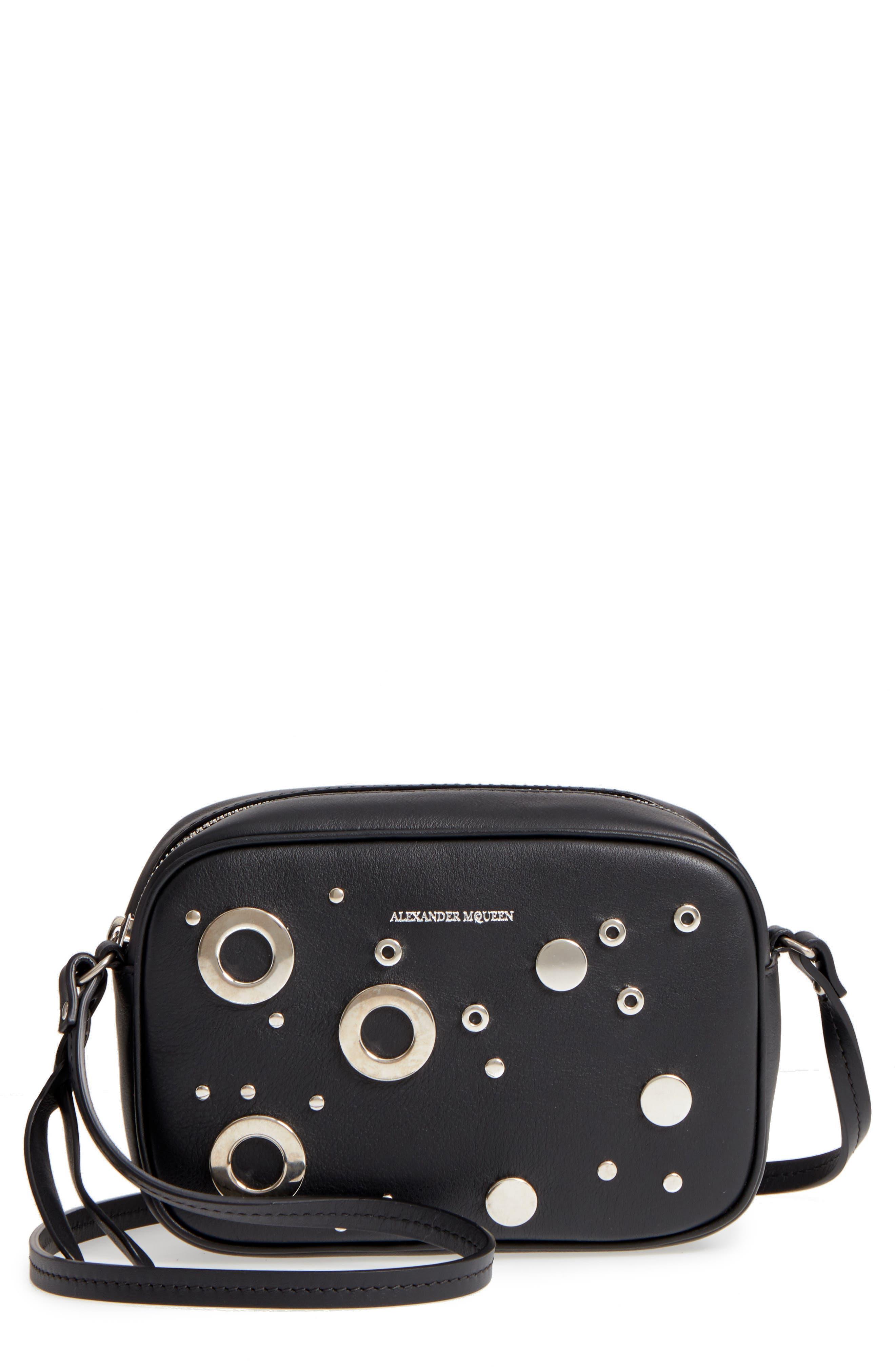 Small Leather Camera Bag,                             Main thumbnail 1, color,                             001