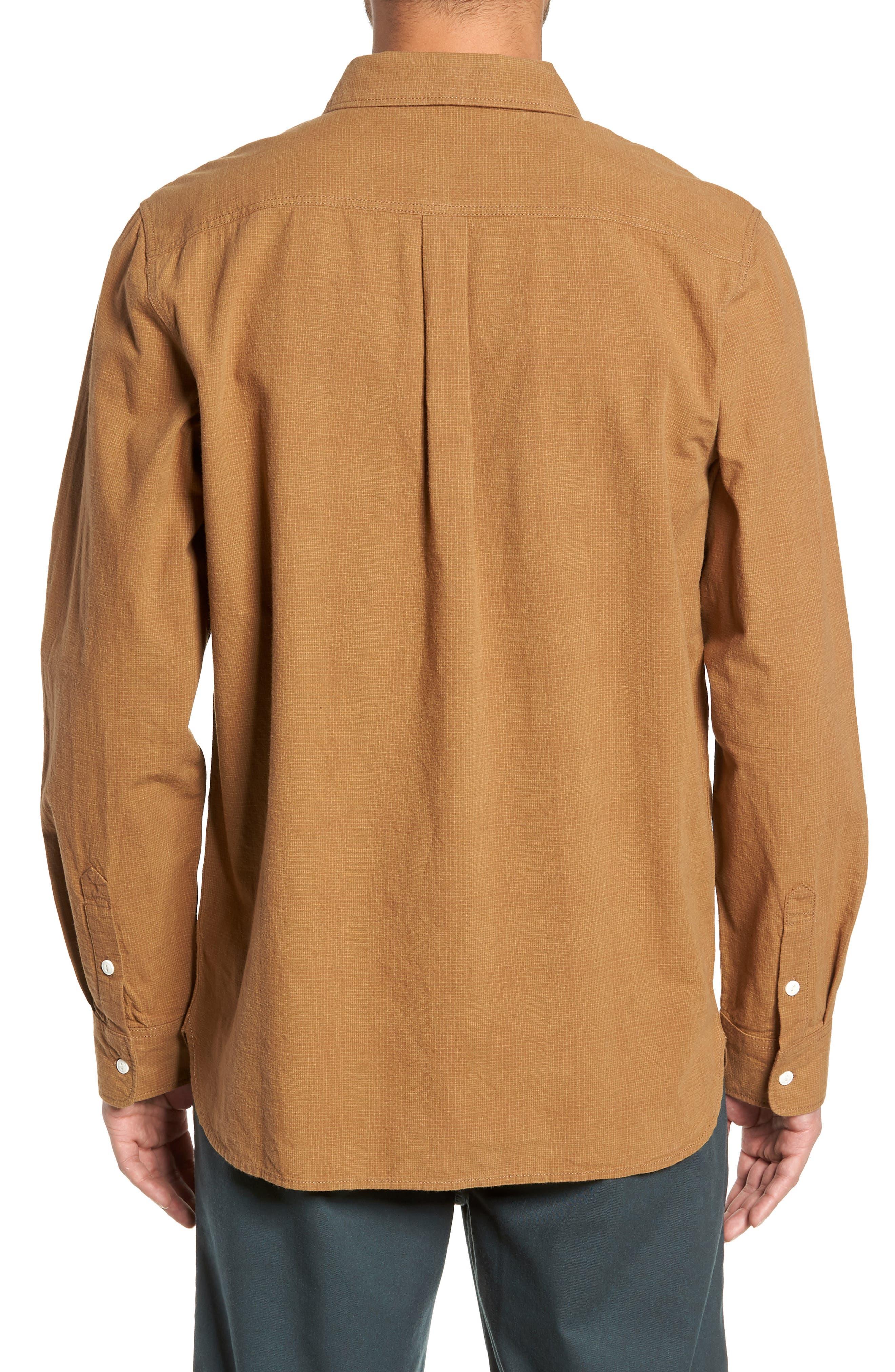 Durhamd Ombré Plaid Sport Shirt,                             Alternate thumbnail 3, color,                             DIRT