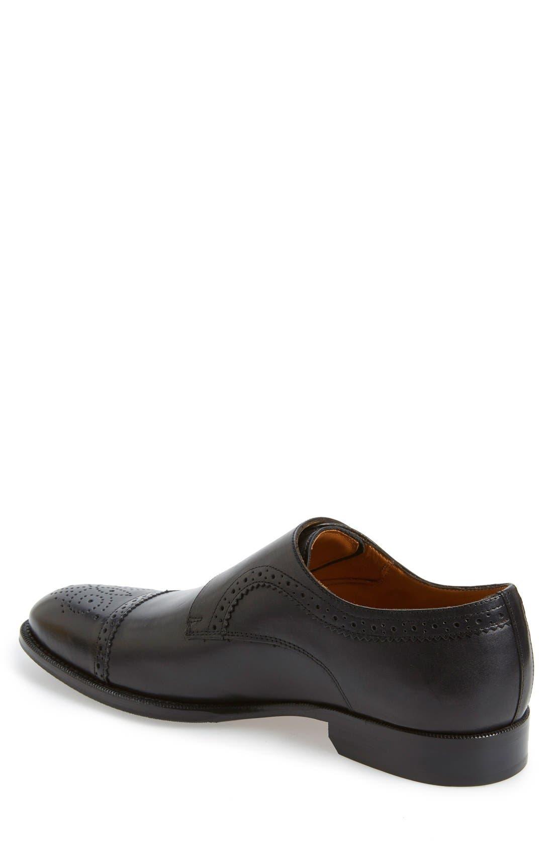 'Briant' Double Monk Strap Shoe,                             Alternate thumbnail 5, color,