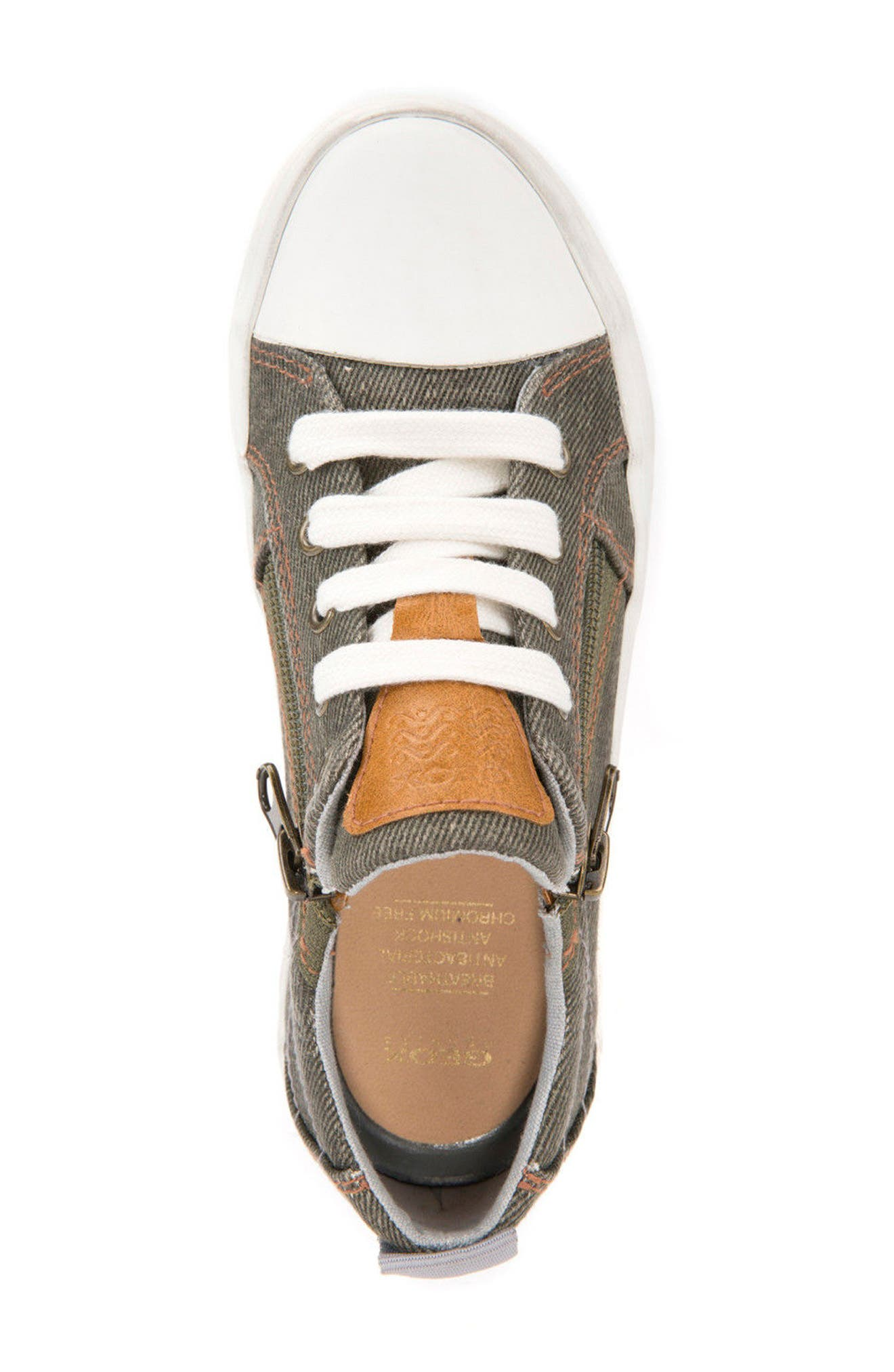 Alonisso Low Top Sneaker,                             Alternate thumbnail 5, color,                             MILITARY/ GREY