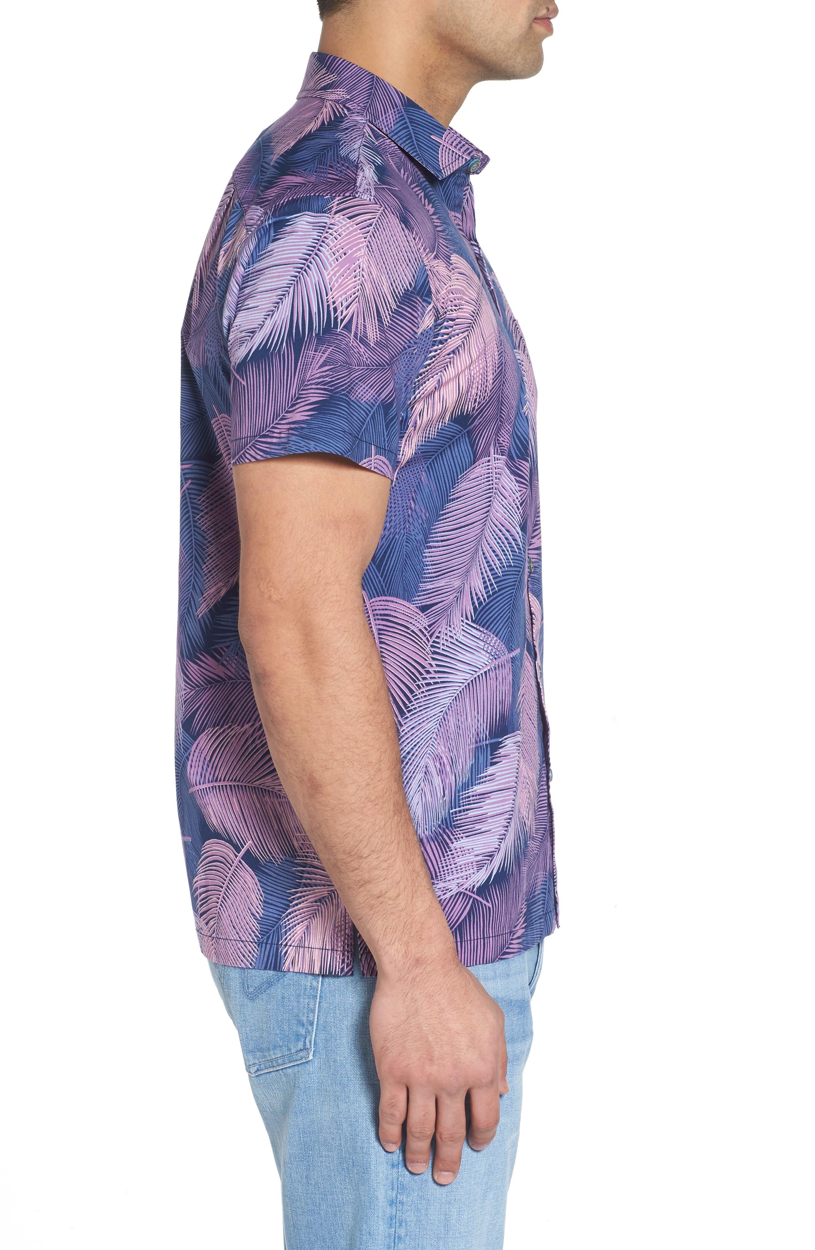 Shadow Play Trim Fit Sport Shirt,                             Alternate thumbnail 3, color,                             415