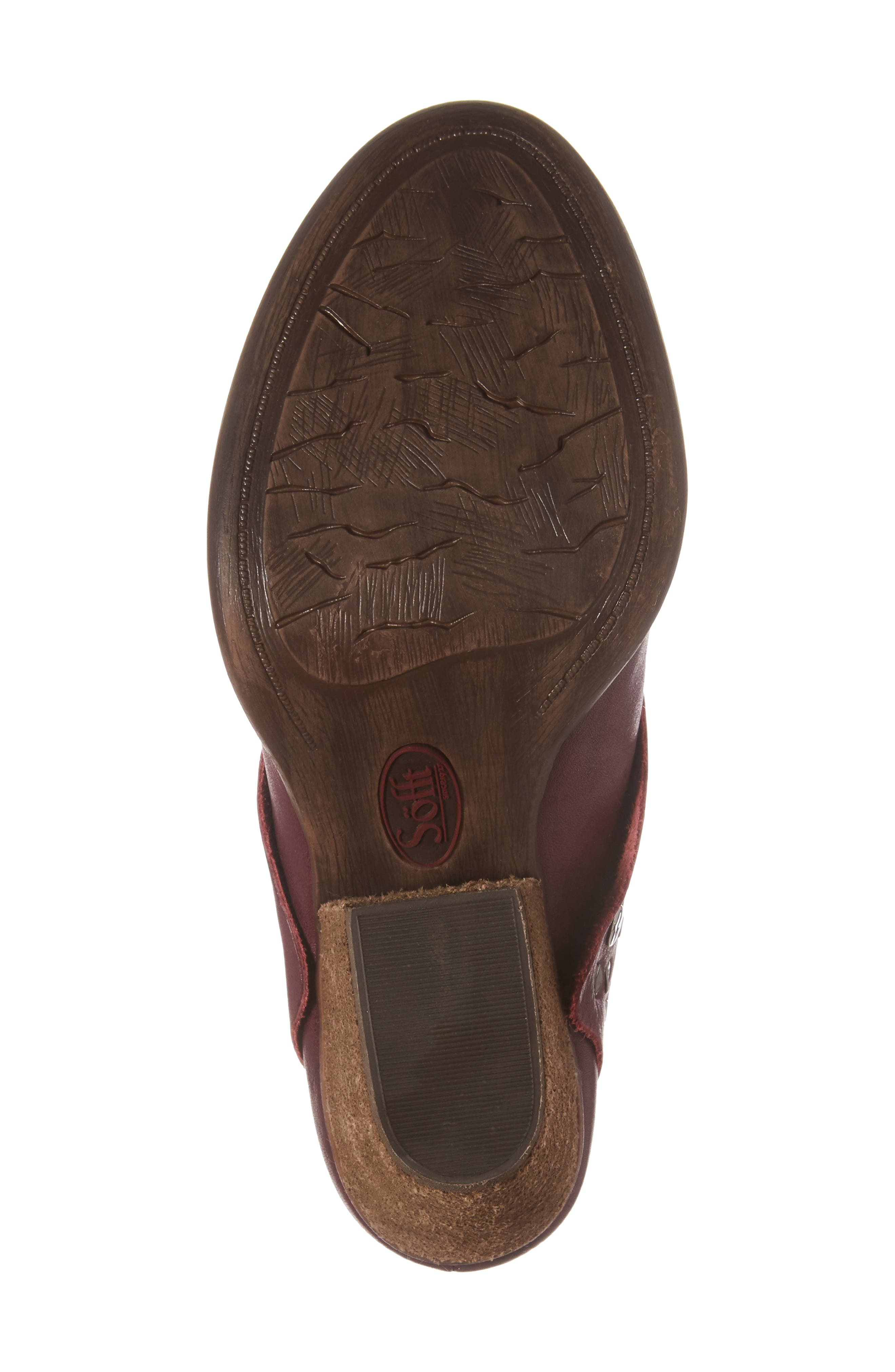 Gila Studded Mule,                             Alternate thumbnail 6, color,                             MARSALA RED LEATHER