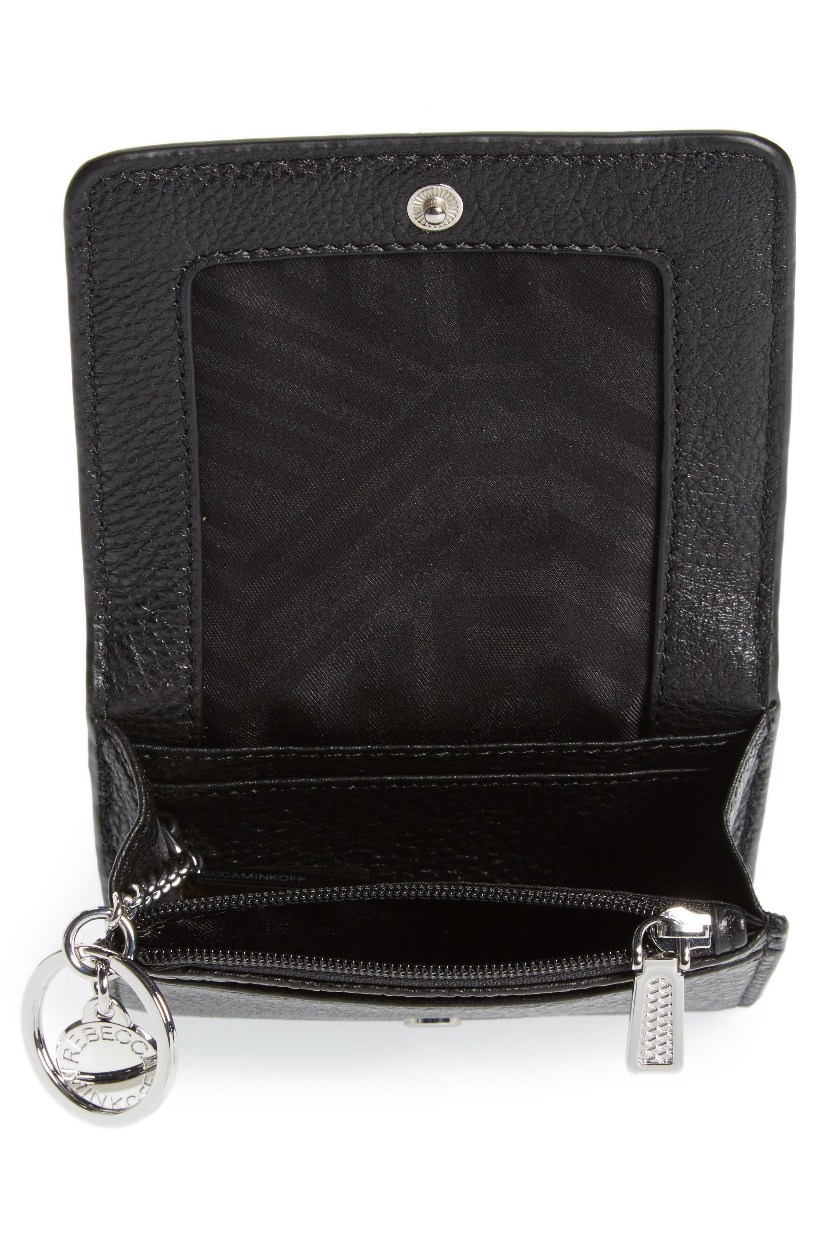 Mini Vanity Leather Wallet,                             Alternate thumbnail 2, color,                             001