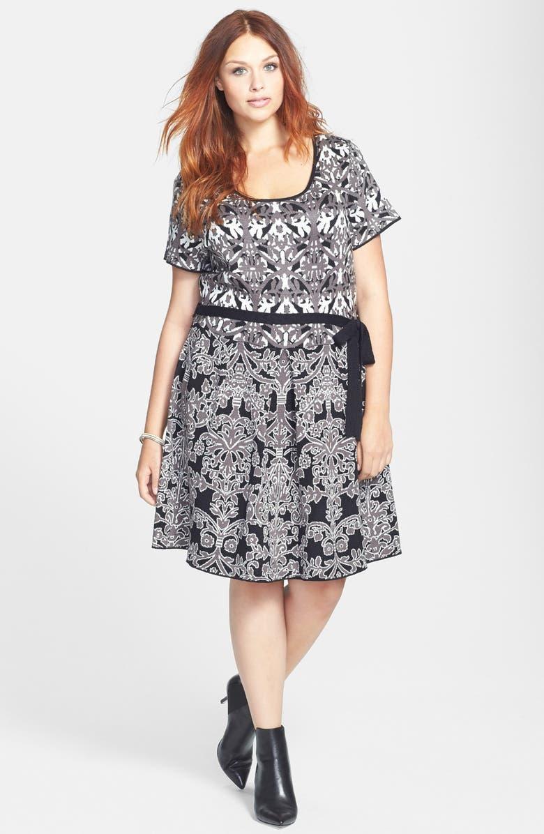 c7b159f269eb7 Jessica Simpson  Bernini  Fit   Flare Sweater Dress (Plus Size ...