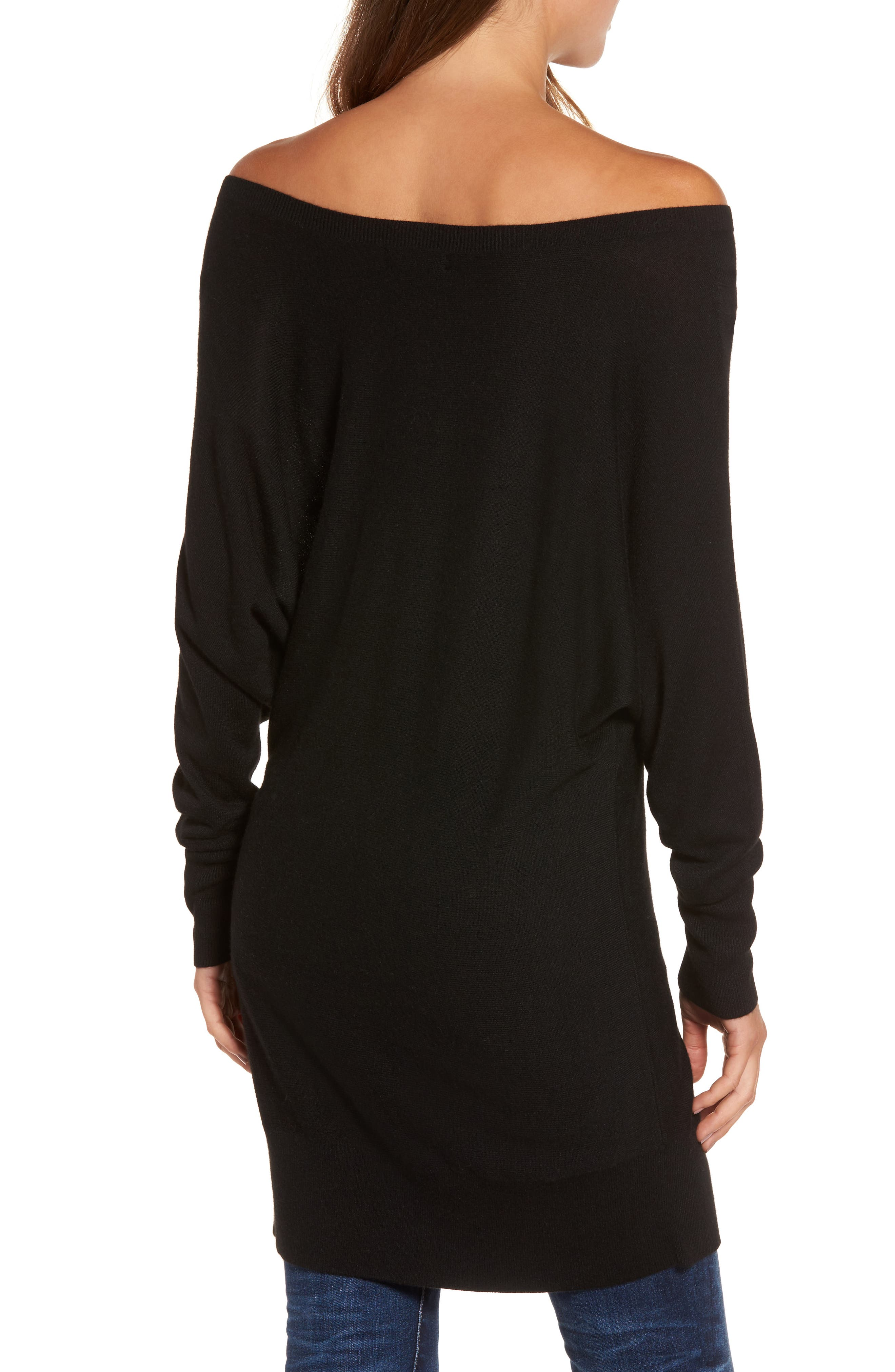 Off the Shoulder Sweater Tunic,                             Alternate thumbnail 2, color,                             001