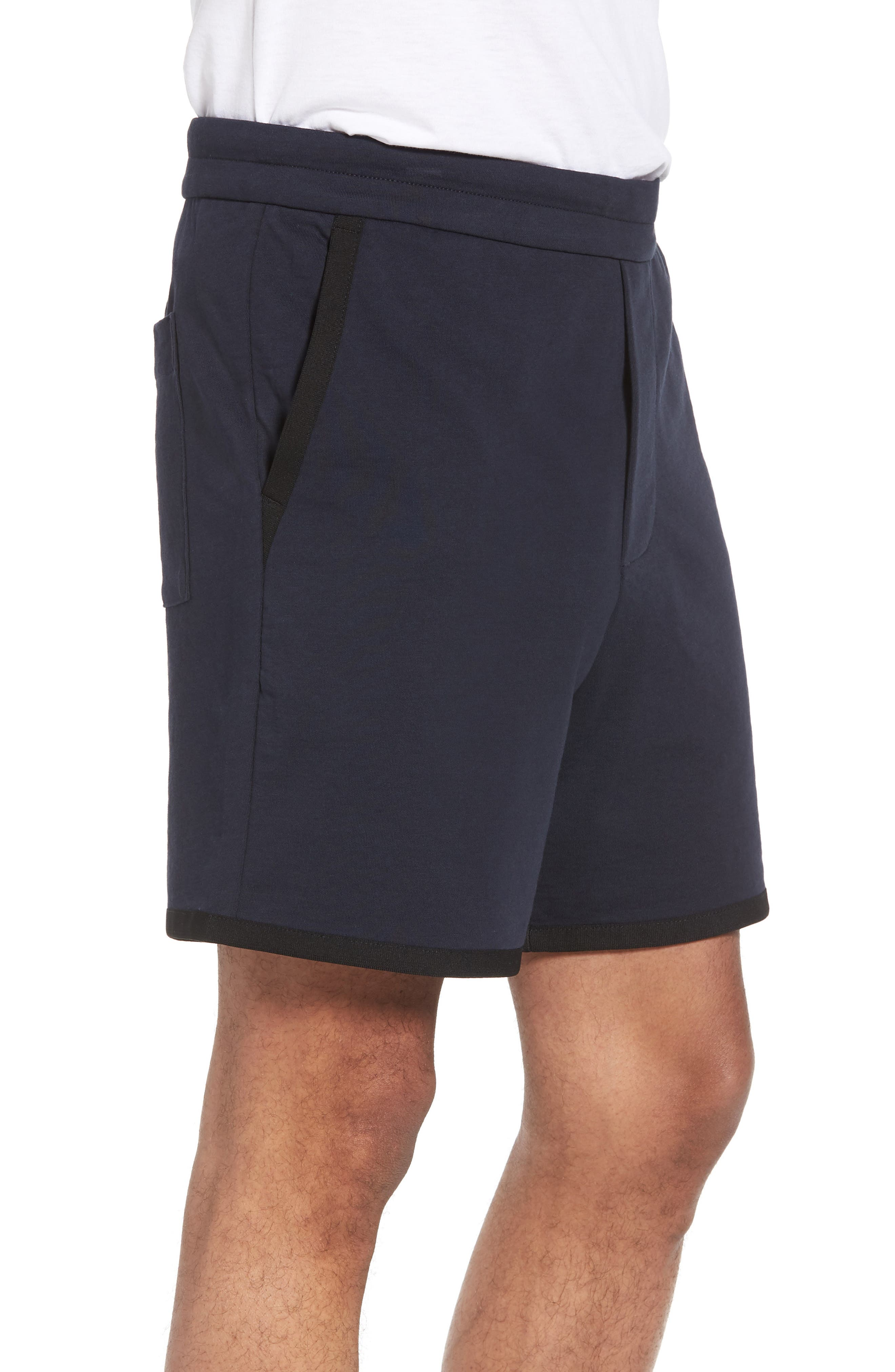 Taped Slim Fit Track Shorts,                             Alternate thumbnail 6, color,