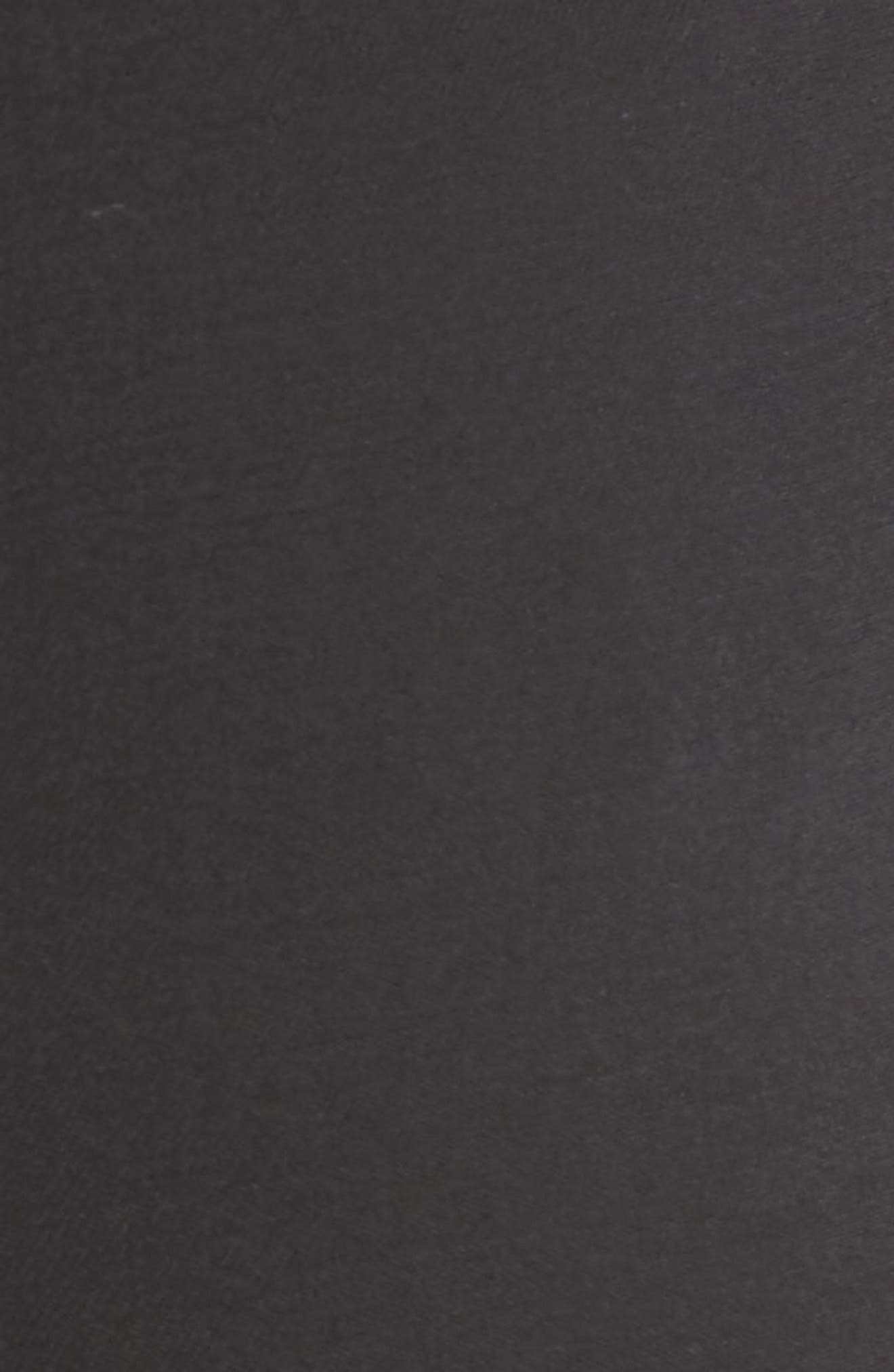 Straight Leg Stretch Wool Trousers,                             Alternate thumbnail 7, color,                             BLACK