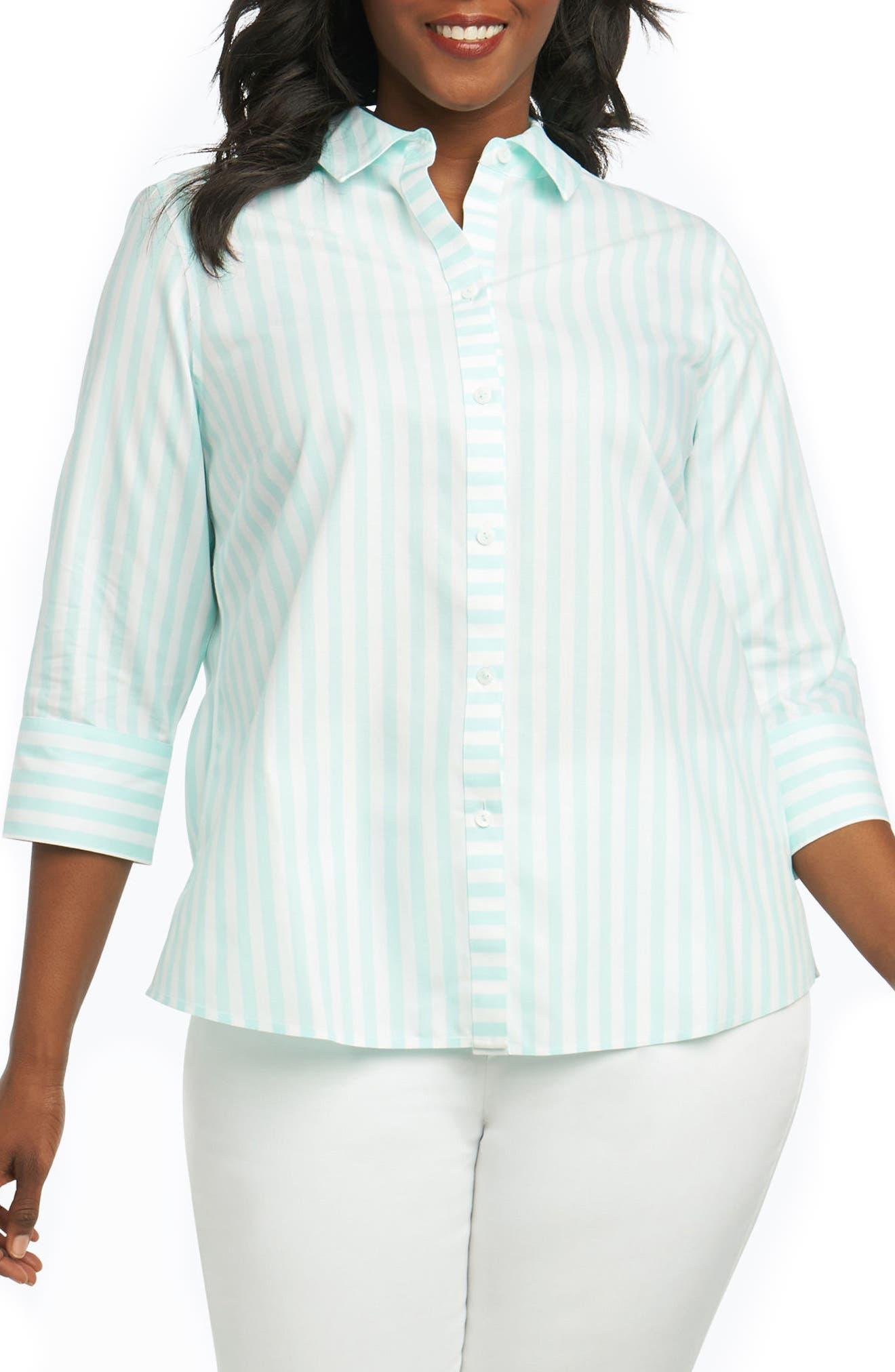 Ava Royal Oxford Stripe Shirt,                         Main,                         color, 455