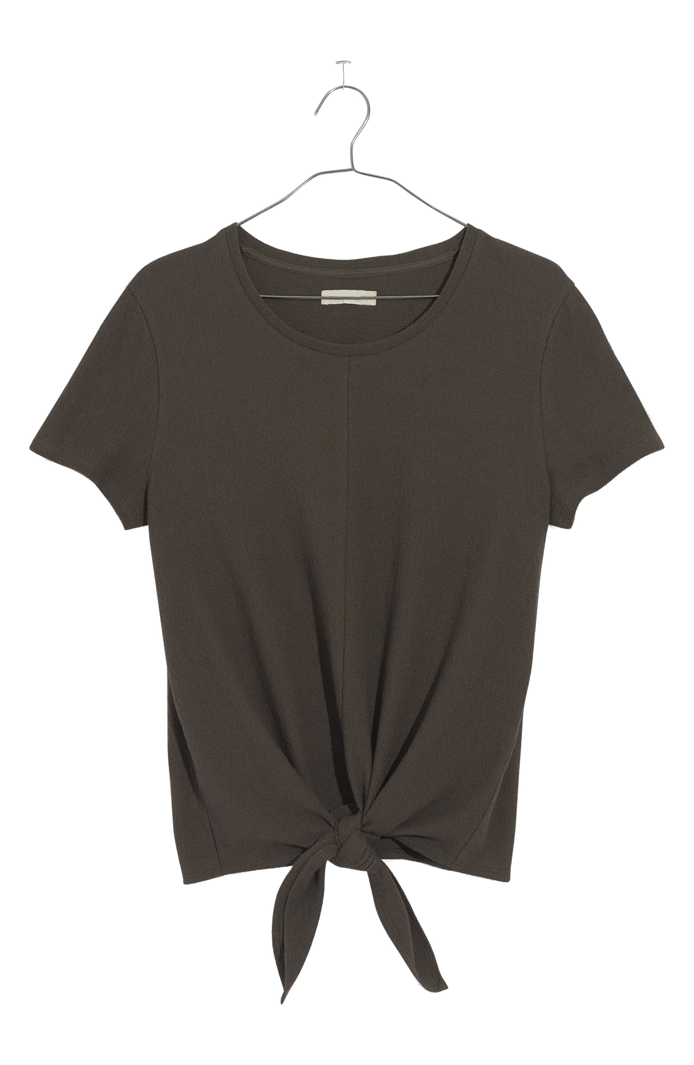 MADEWELL,                             Modern Tie Front Tee,                             Alternate thumbnail 4, color,                             300