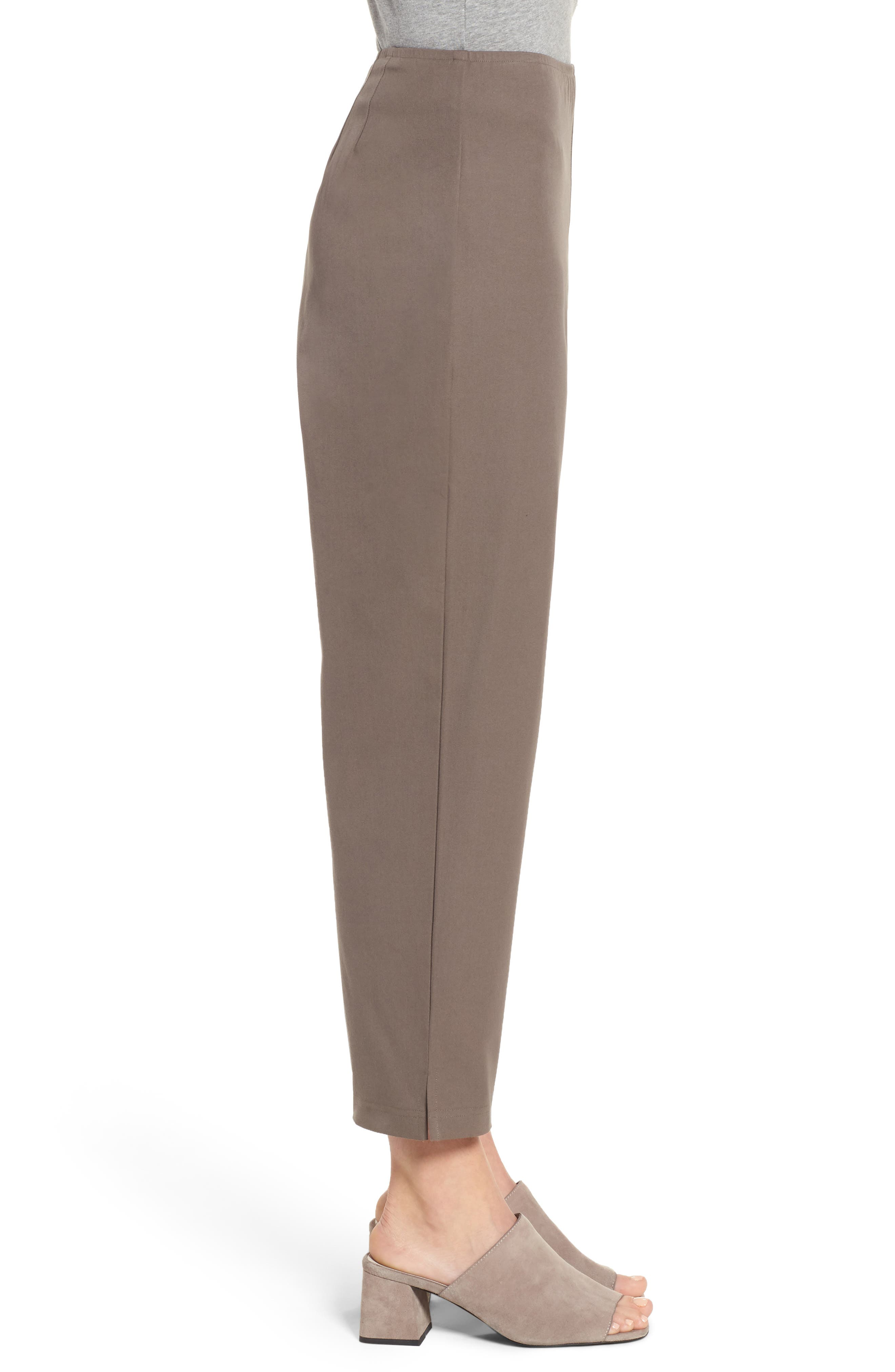 Organic Stretch Cotton Twill Ankle Pants,                             Alternate thumbnail 33, color,