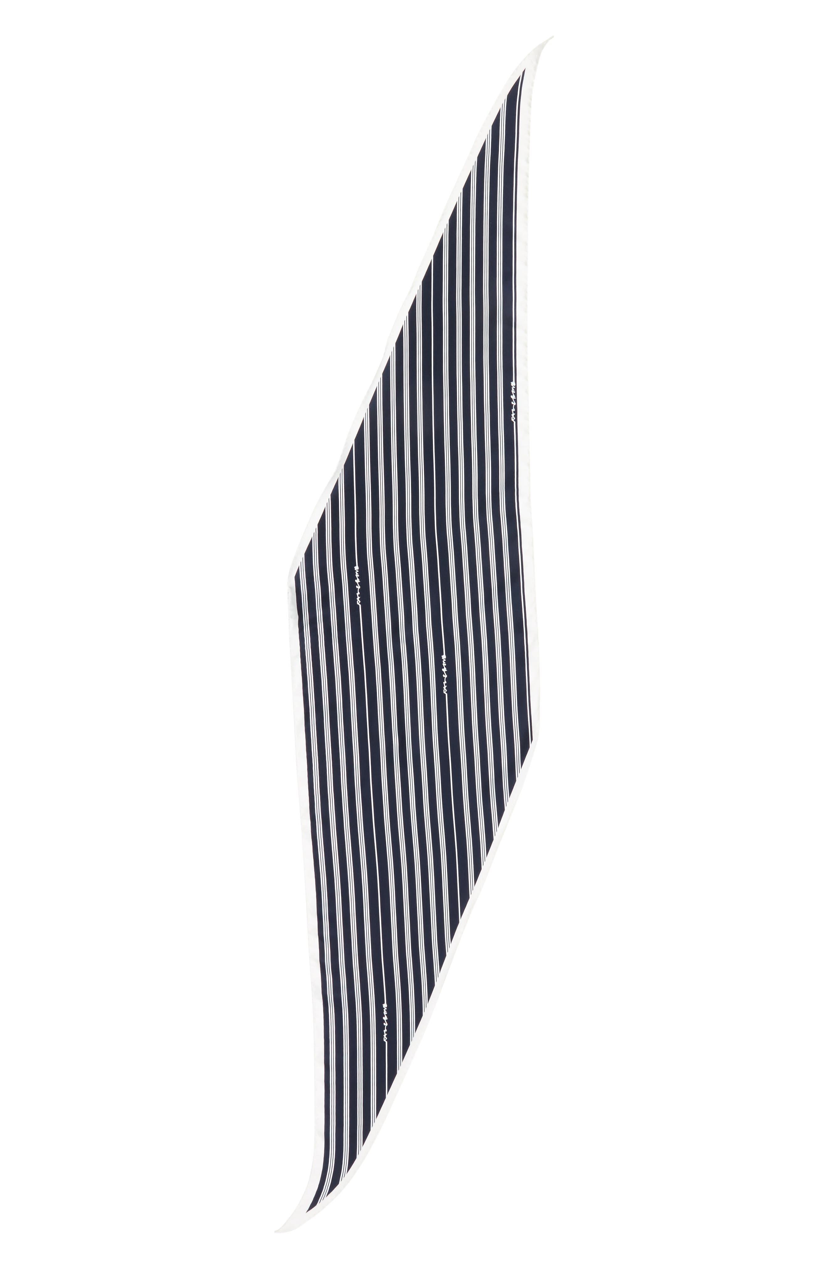 Narrow Stripe Silk Scarf,                             Alternate thumbnail 6, color,