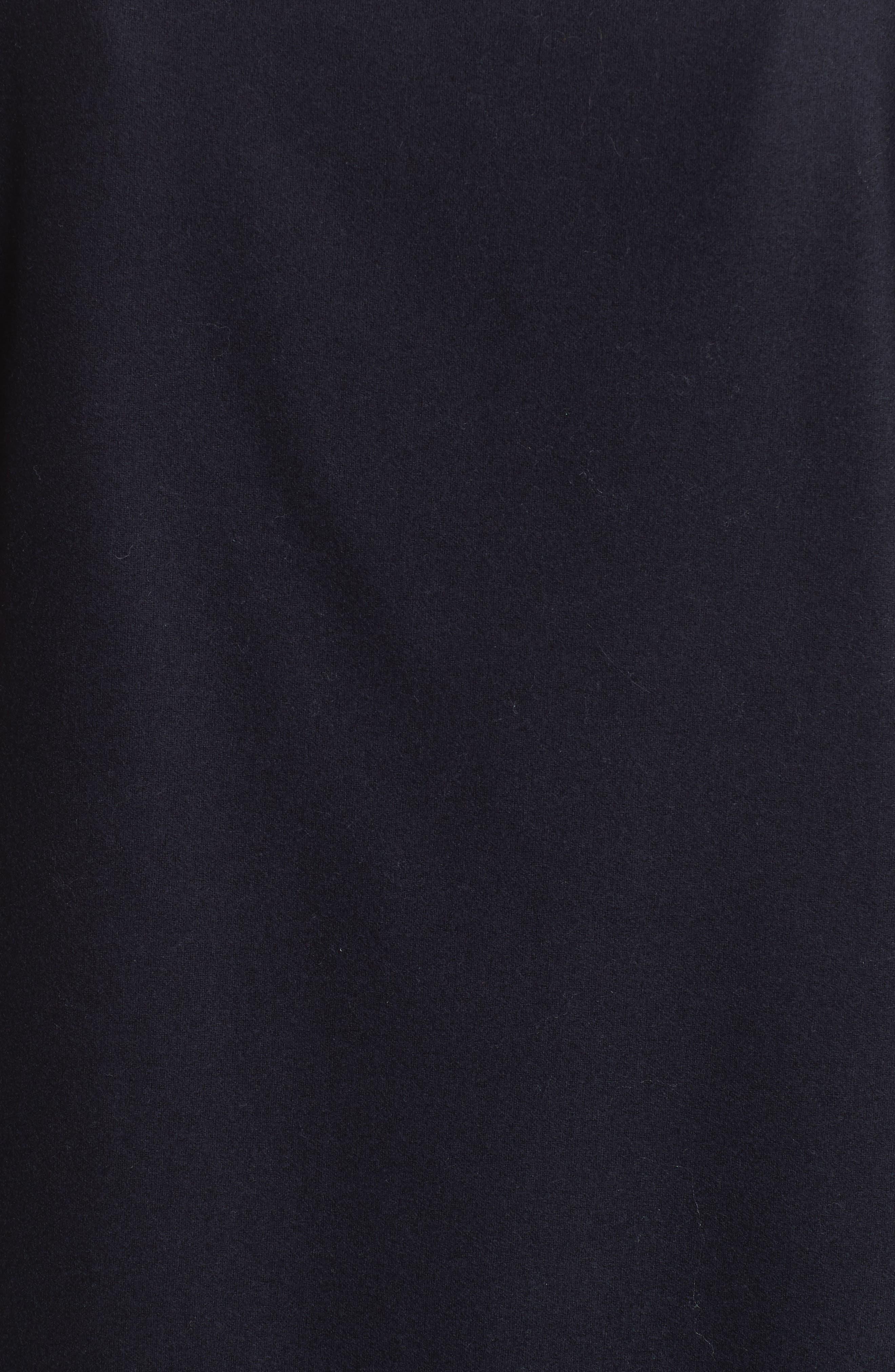 FABIANA FILIPPI,                             Stretch Wool & Cashmere Ruffle Dress,                             Alternate thumbnail 5, color,                             400