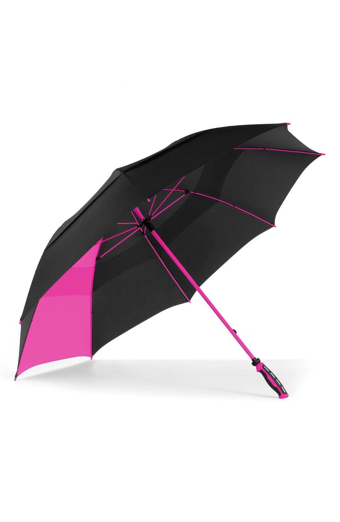 'WindJammer<sup>®</sup>' Golf Umbrella,                             Main thumbnail 1, color,                             BLACK/ PINK