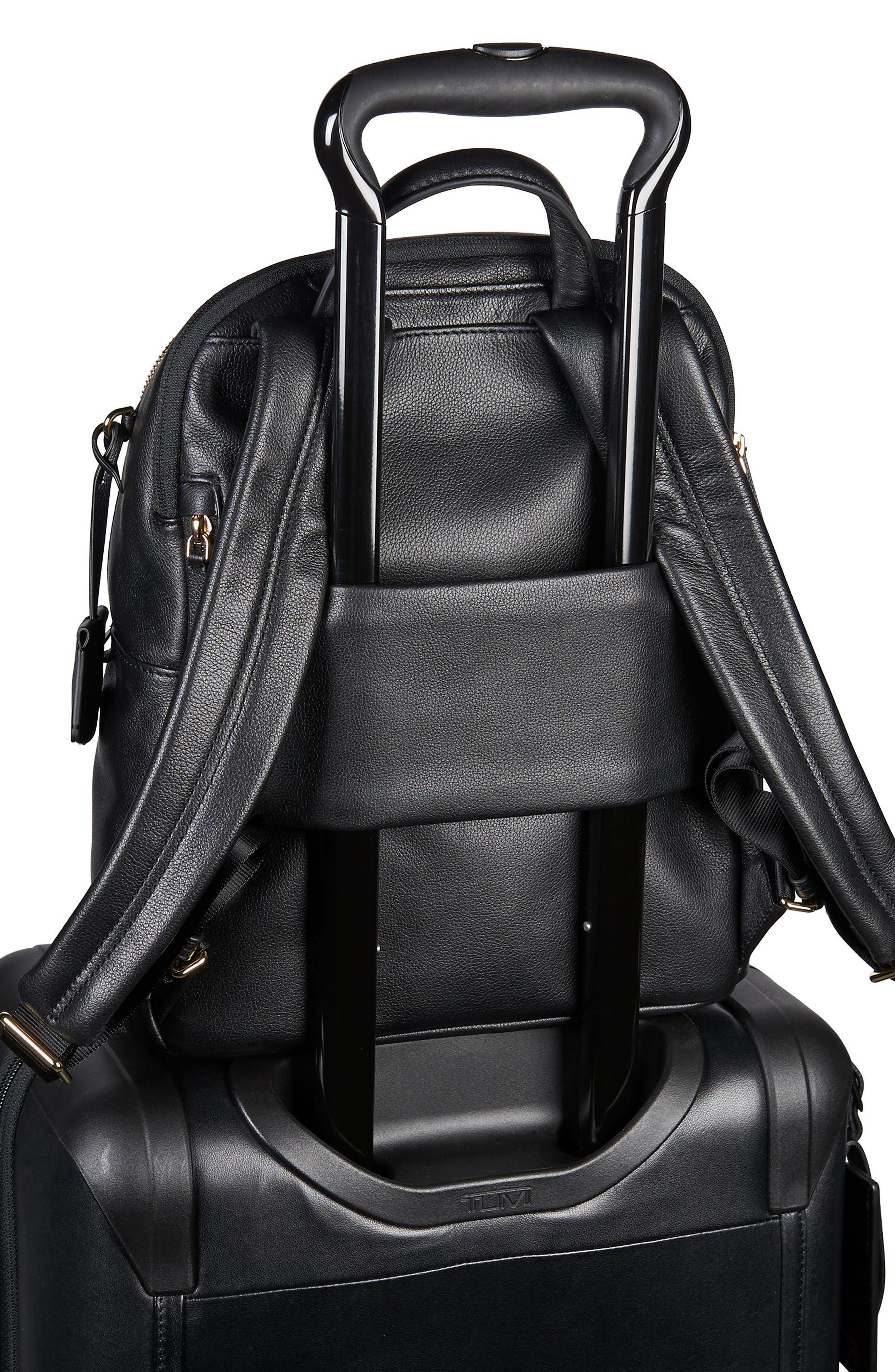 Voyageur - Dori Leather Backpack,                             Alternate thumbnail 6, color,                             BLACK