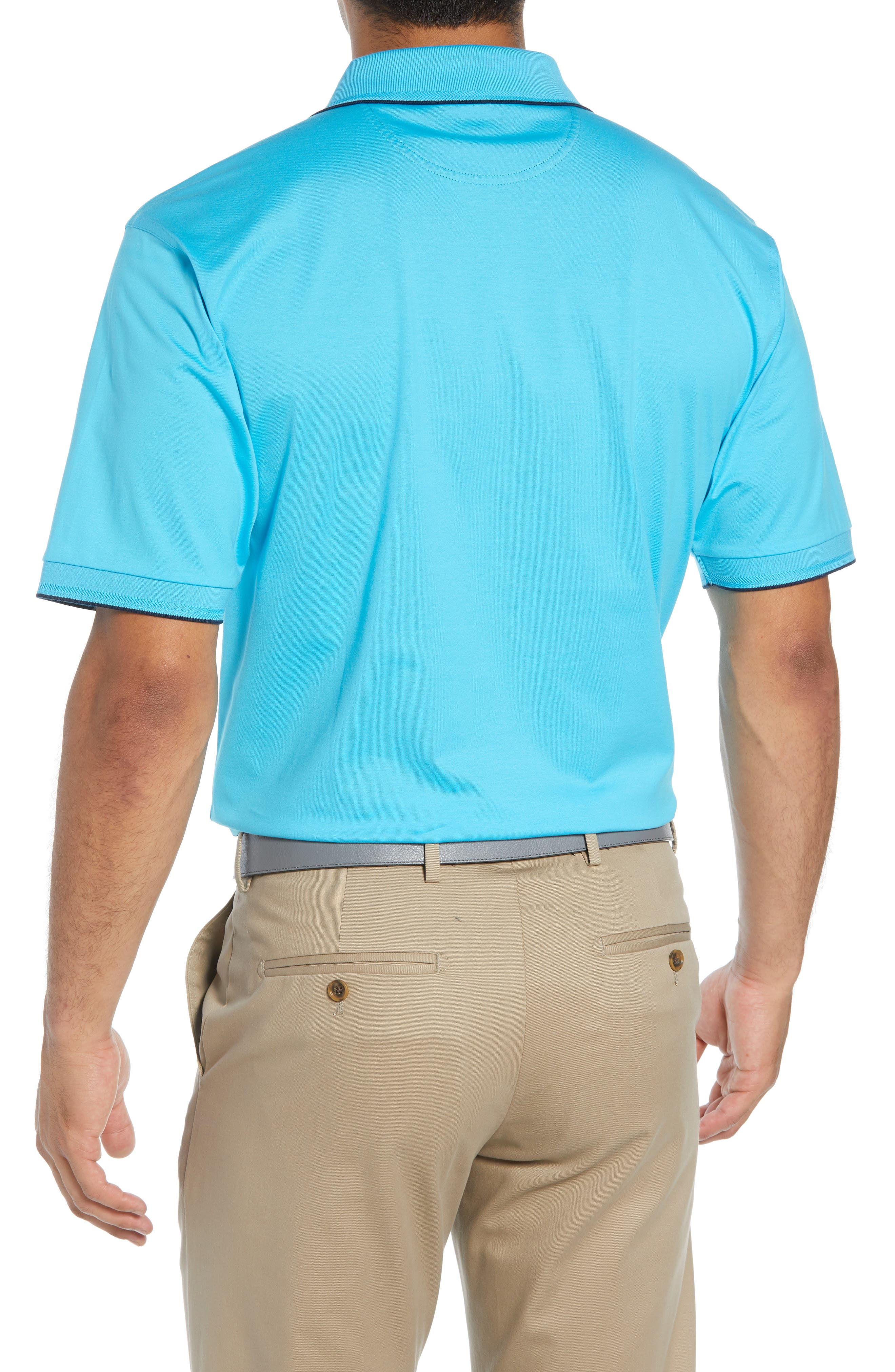 Solid Tipped Polo,                             Alternate thumbnail 2, color,                             BLUE