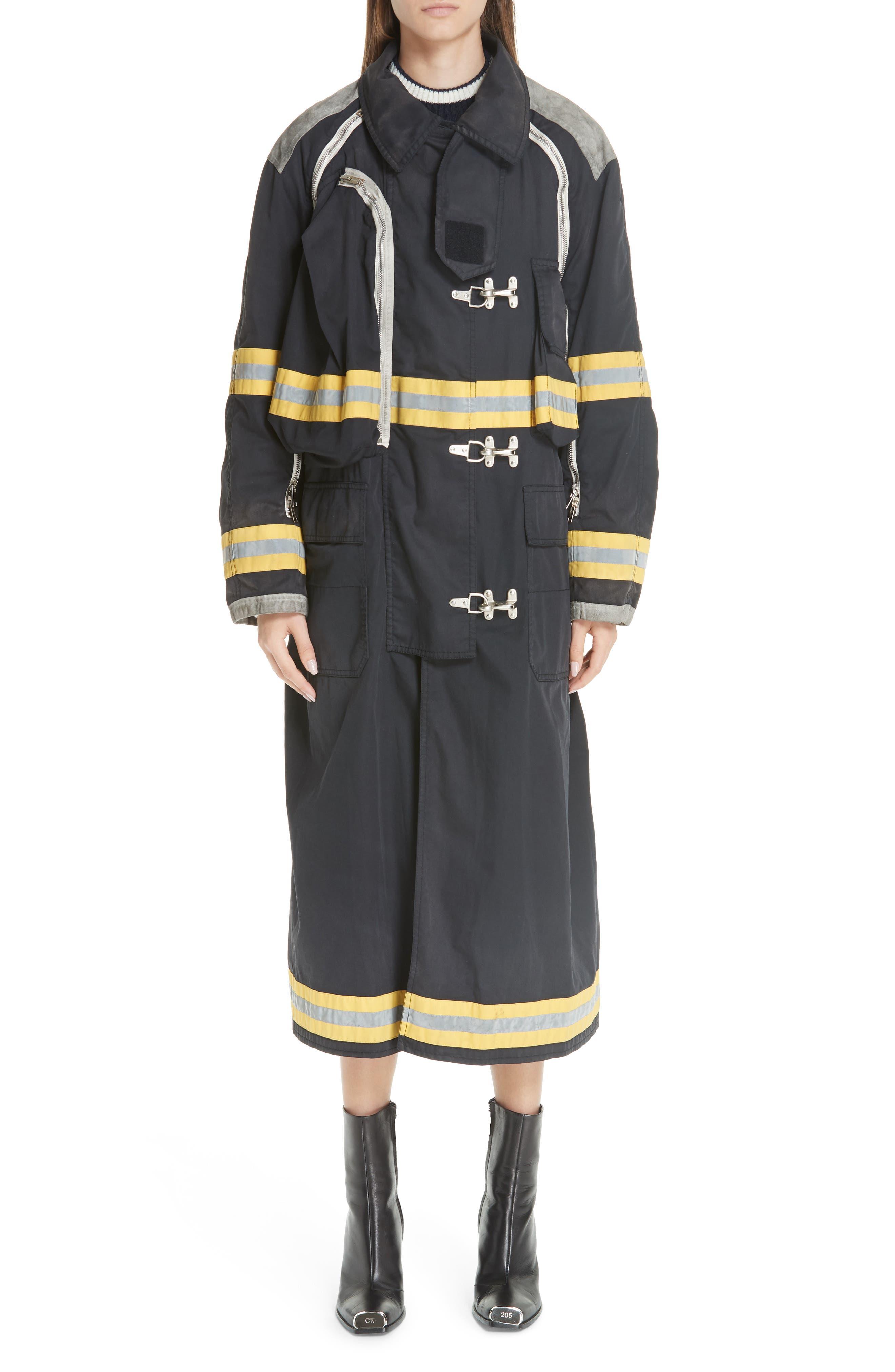 Fireman Coat,                             Main thumbnail 1, color,                             BLACK