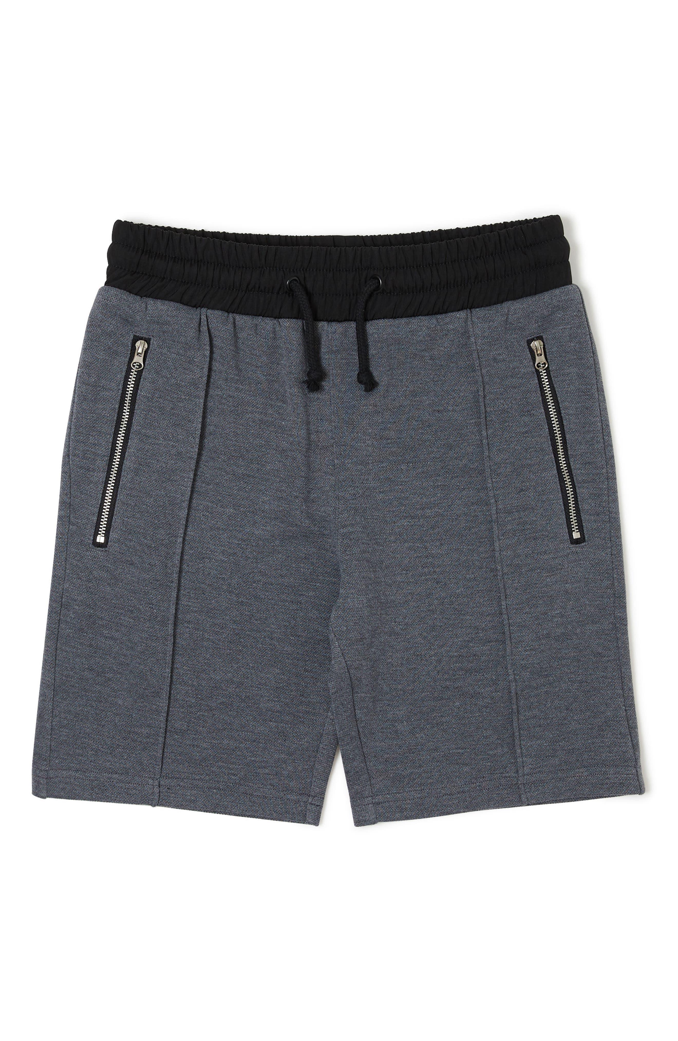 Liam Knit Shorts,                             Main thumbnail 1, color,                             HEATHER GREY