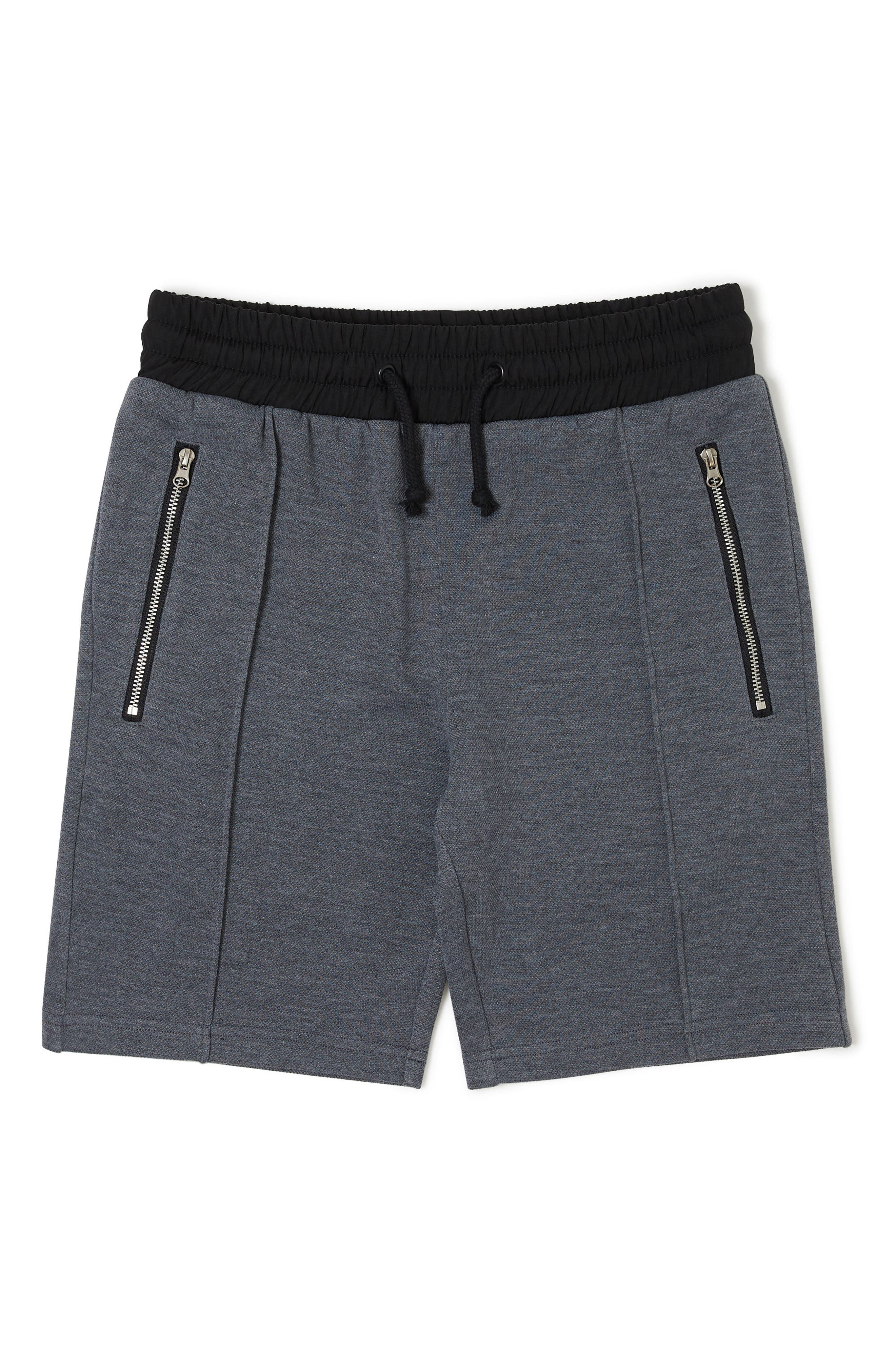 Liam Knit Shorts,                         Main,                         color, HEATHER GREY